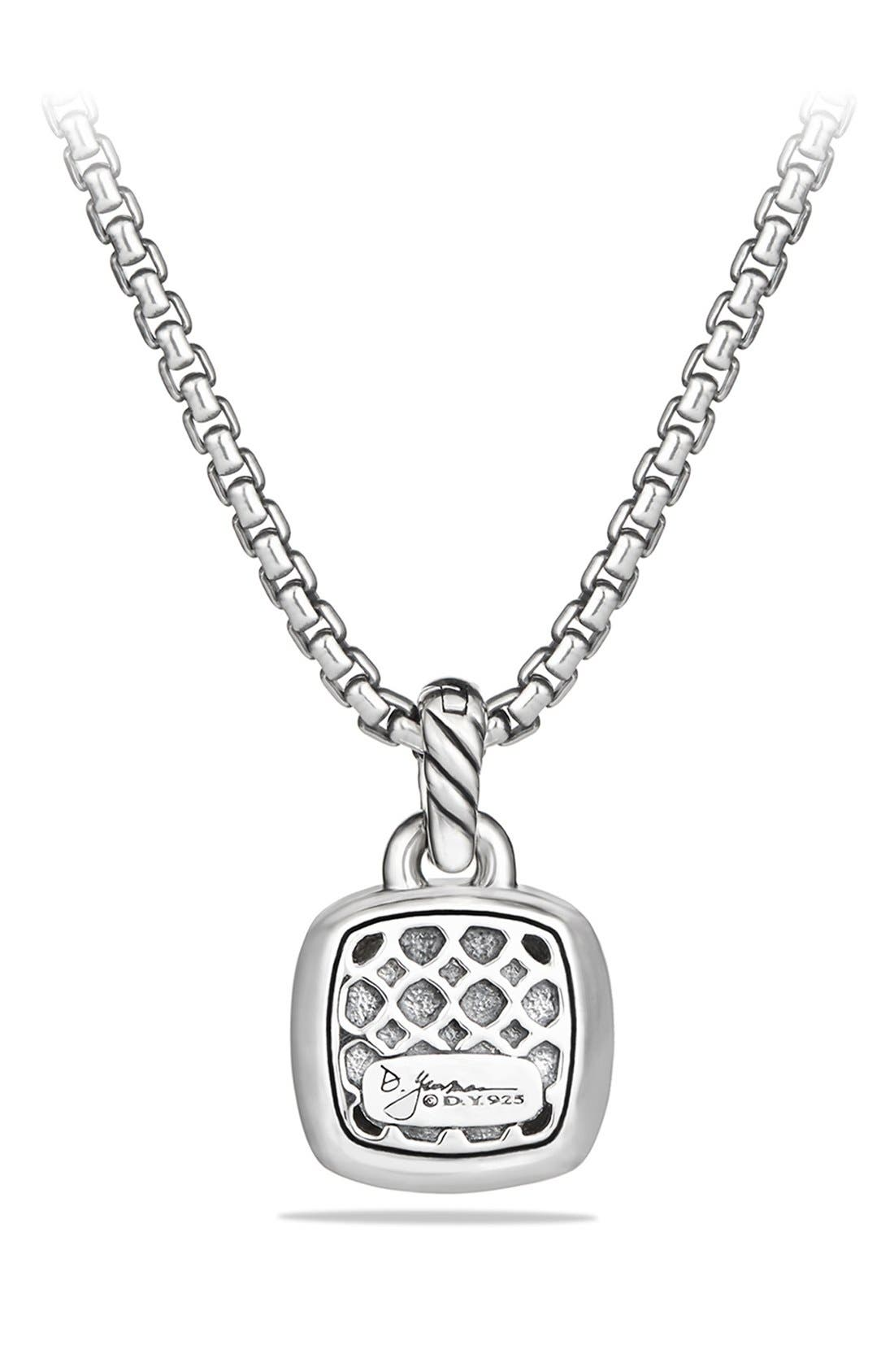 DAVID YURMAN, 'Albion' Pendant and Diamonds, Alternate thumbnail 4, color, BLACK ONYX