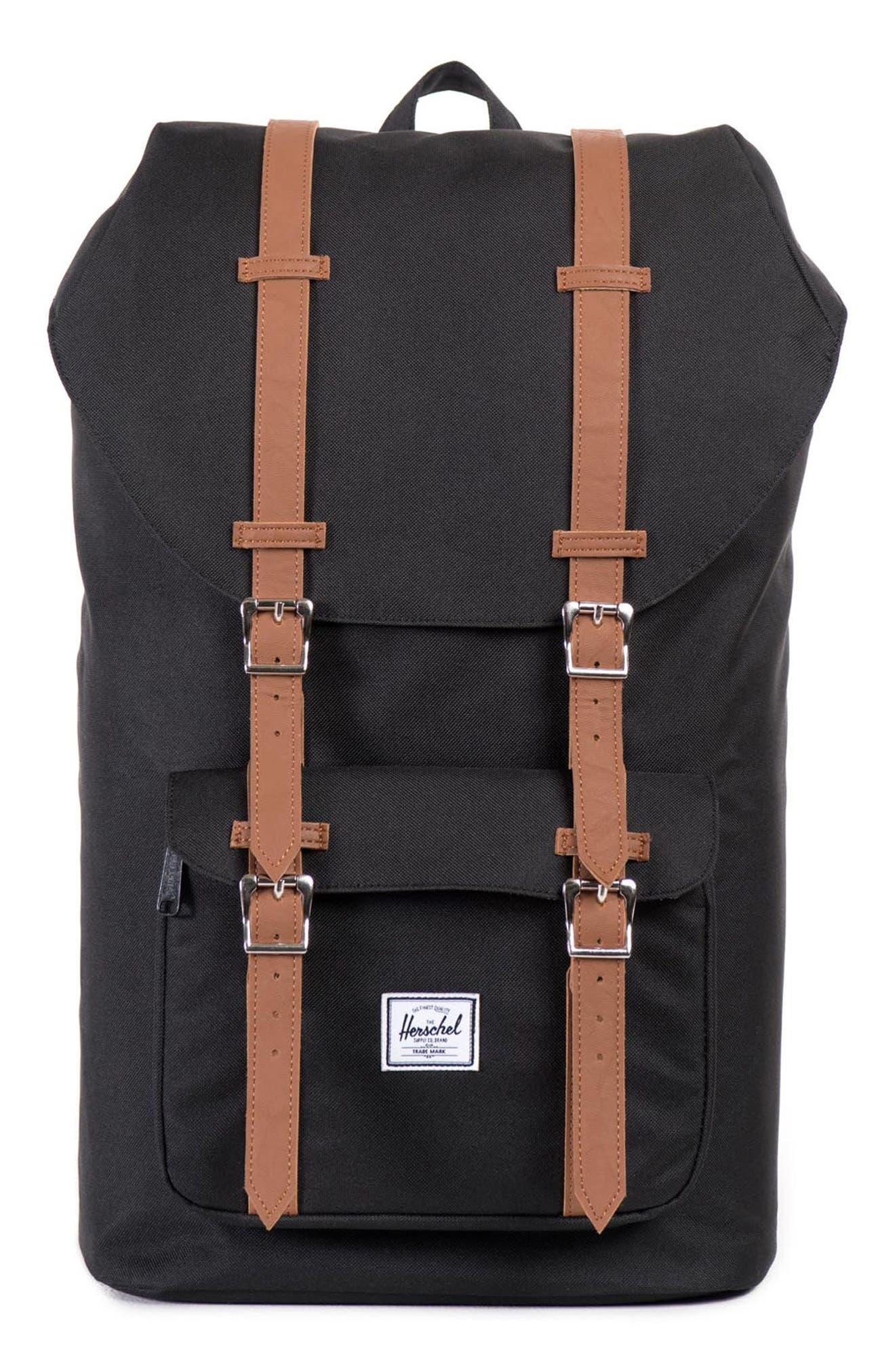HERSCHEL SUPPLY CO. 'Little America' Backpack, Main, color, BLACK