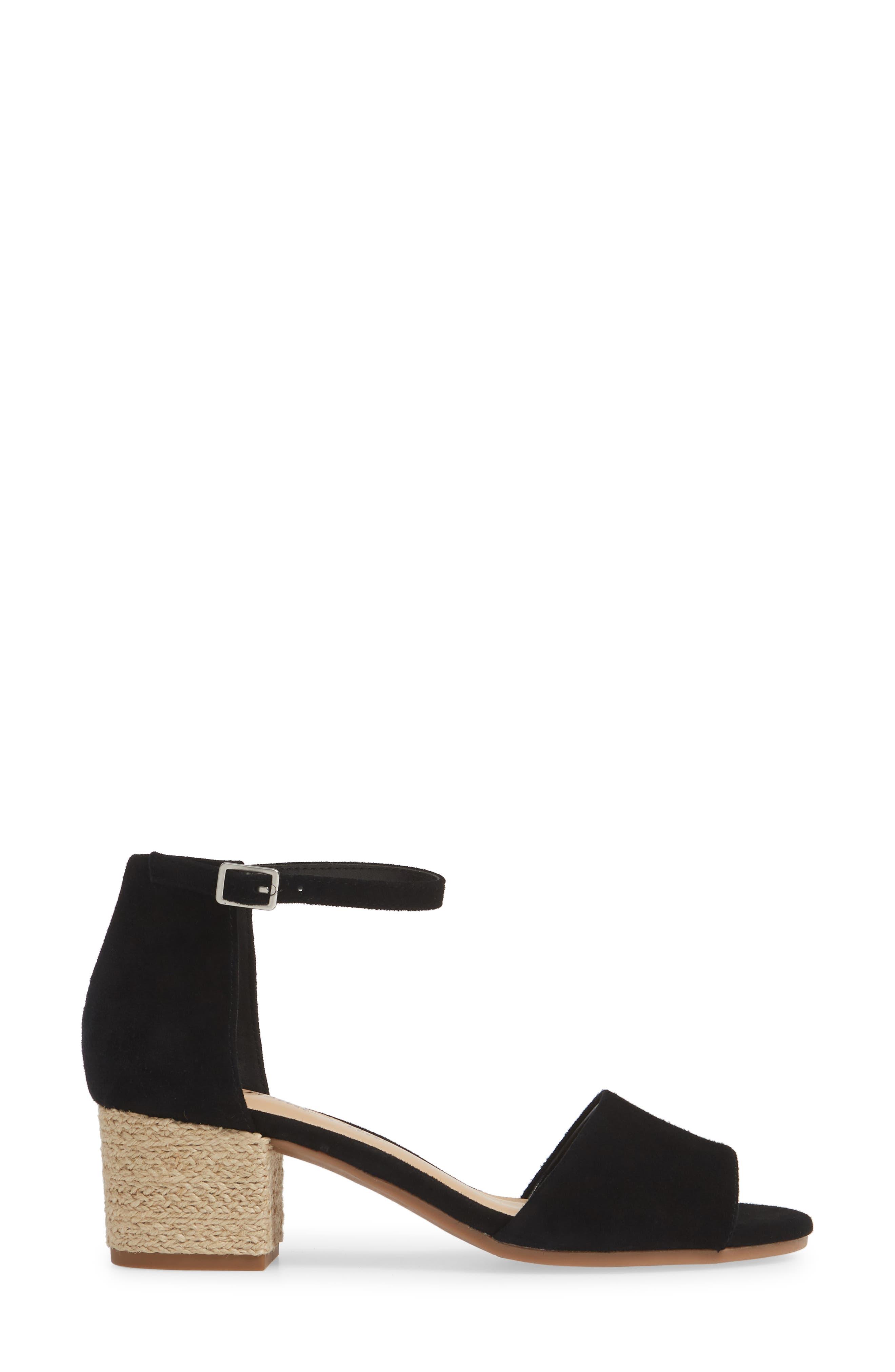 BELLA VITA, Fable Sandal, Alternate thumbnail 3, color, BLACK SUEDE