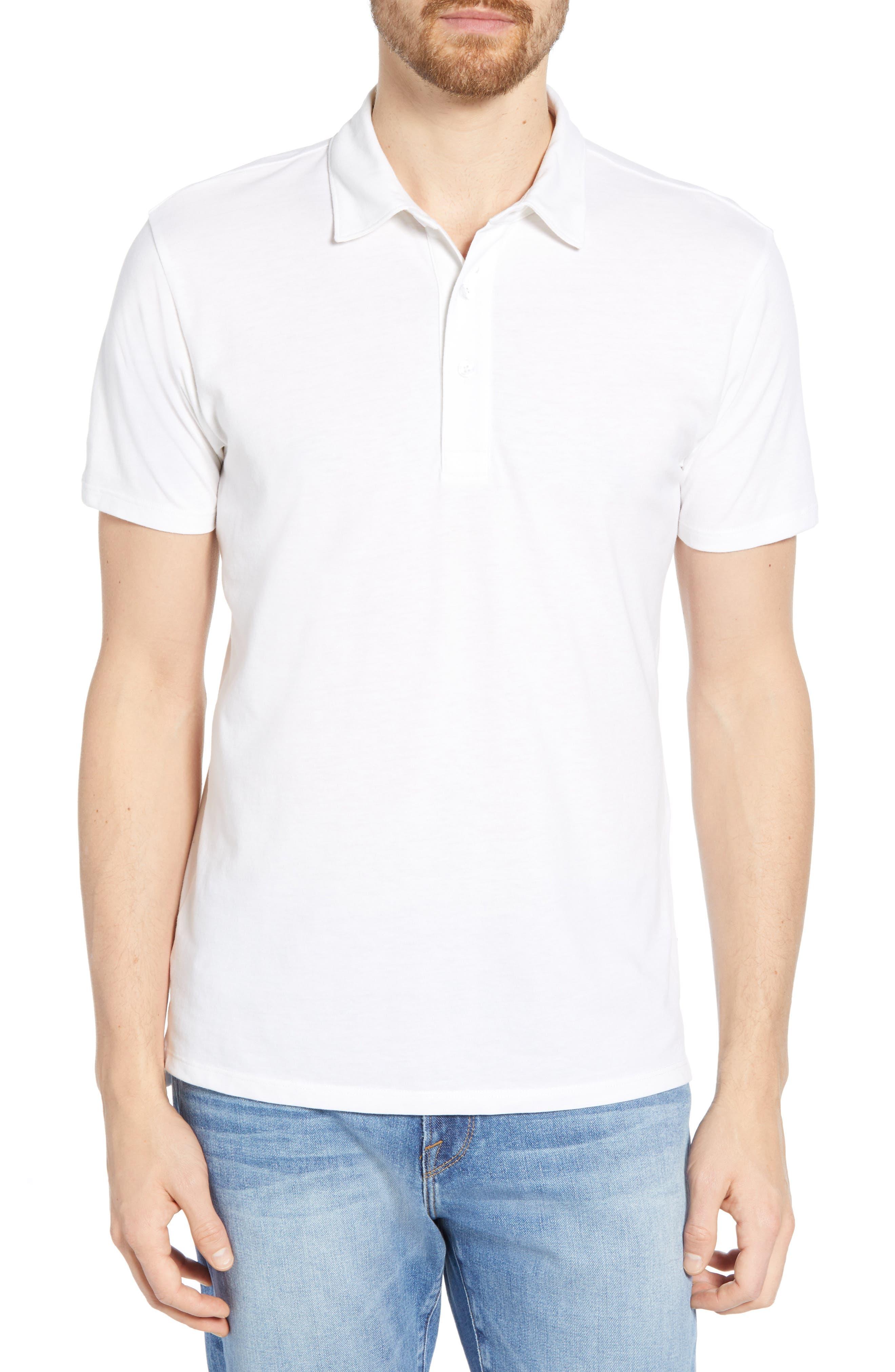 BONOBOS Slim Fit Performance Polo, Main, color, BRIGHT WHITE
