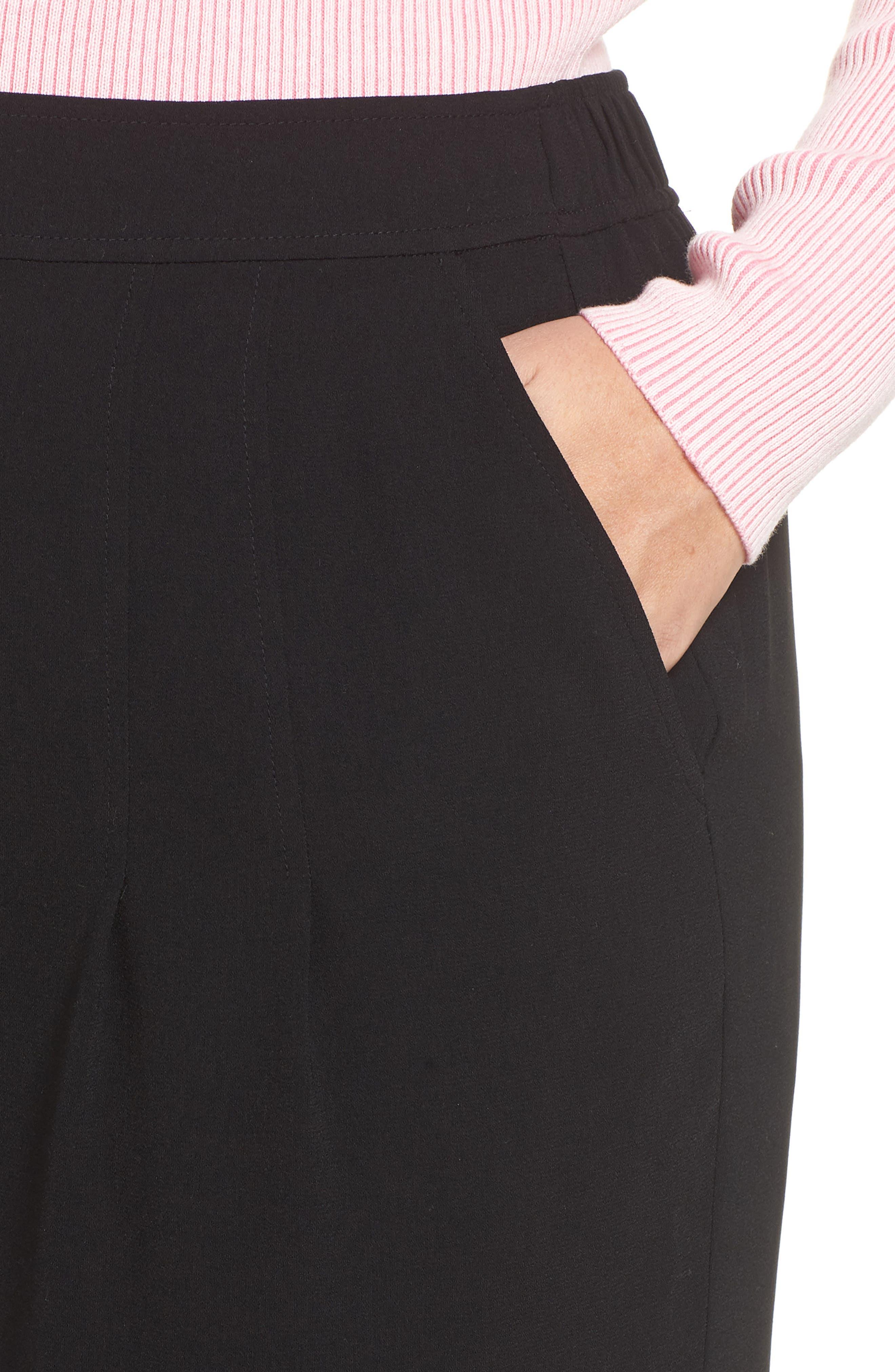 BP., High Waist Soft Wide Leg Crop Pants, Alternate thumbnail 11, color, BLACK