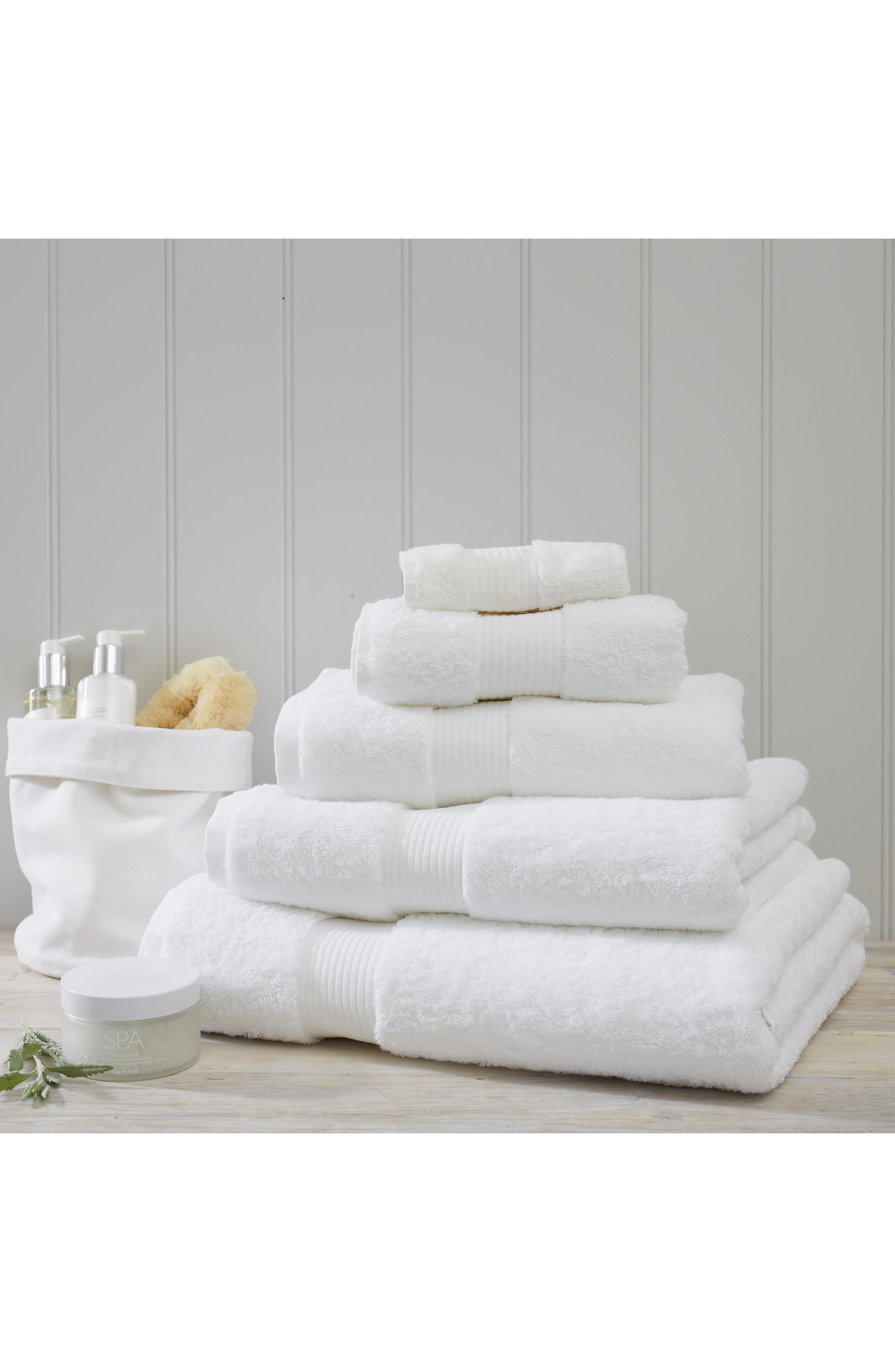 The White Company Luxury Egyptian Cotton Hand Towel Size One Size  White
