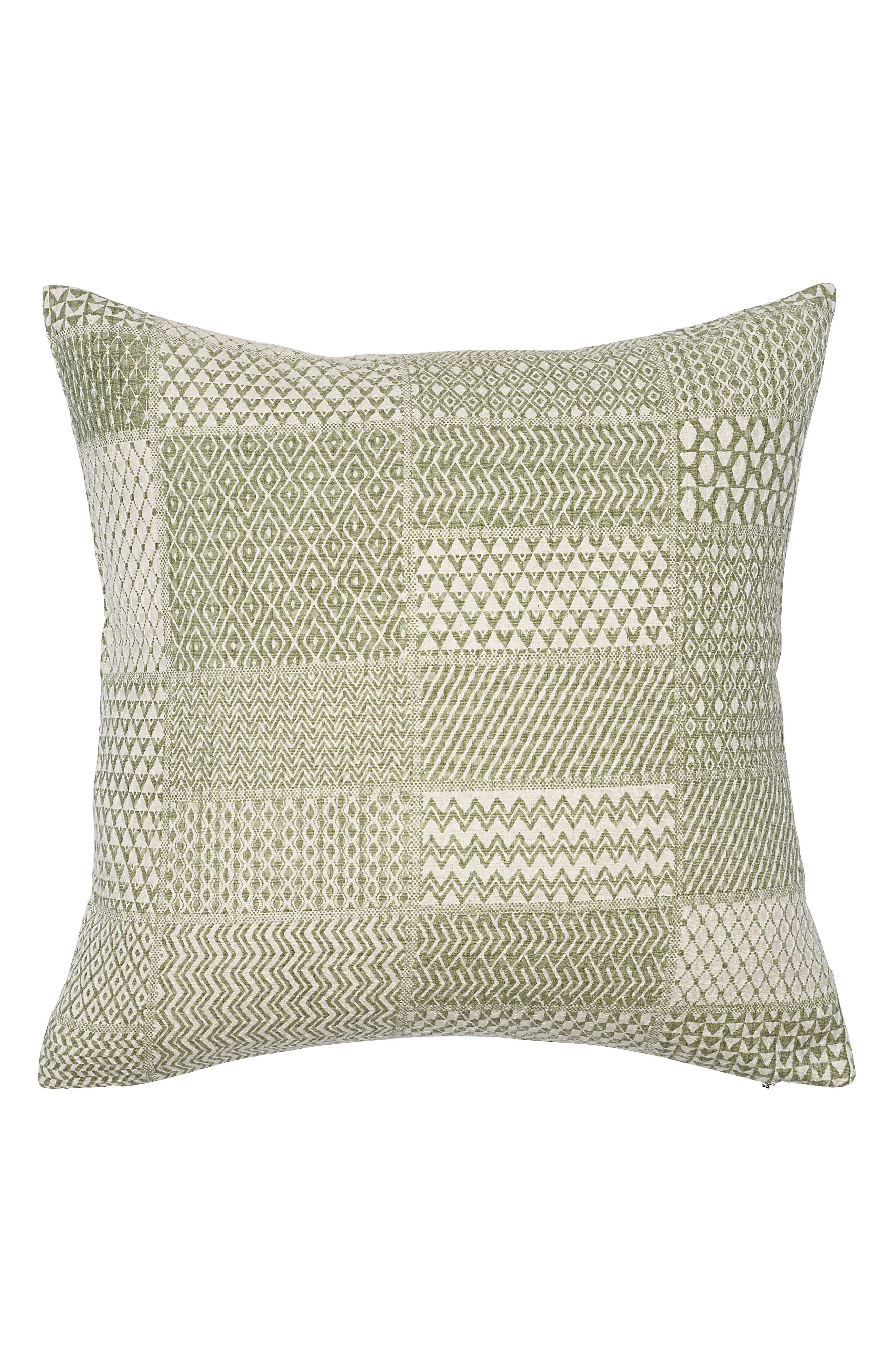 EADIE LIFESTYLE, Tiptoe Scatter Accent Pillow, Main thumbnail 1, color, SAGE/ WHITE