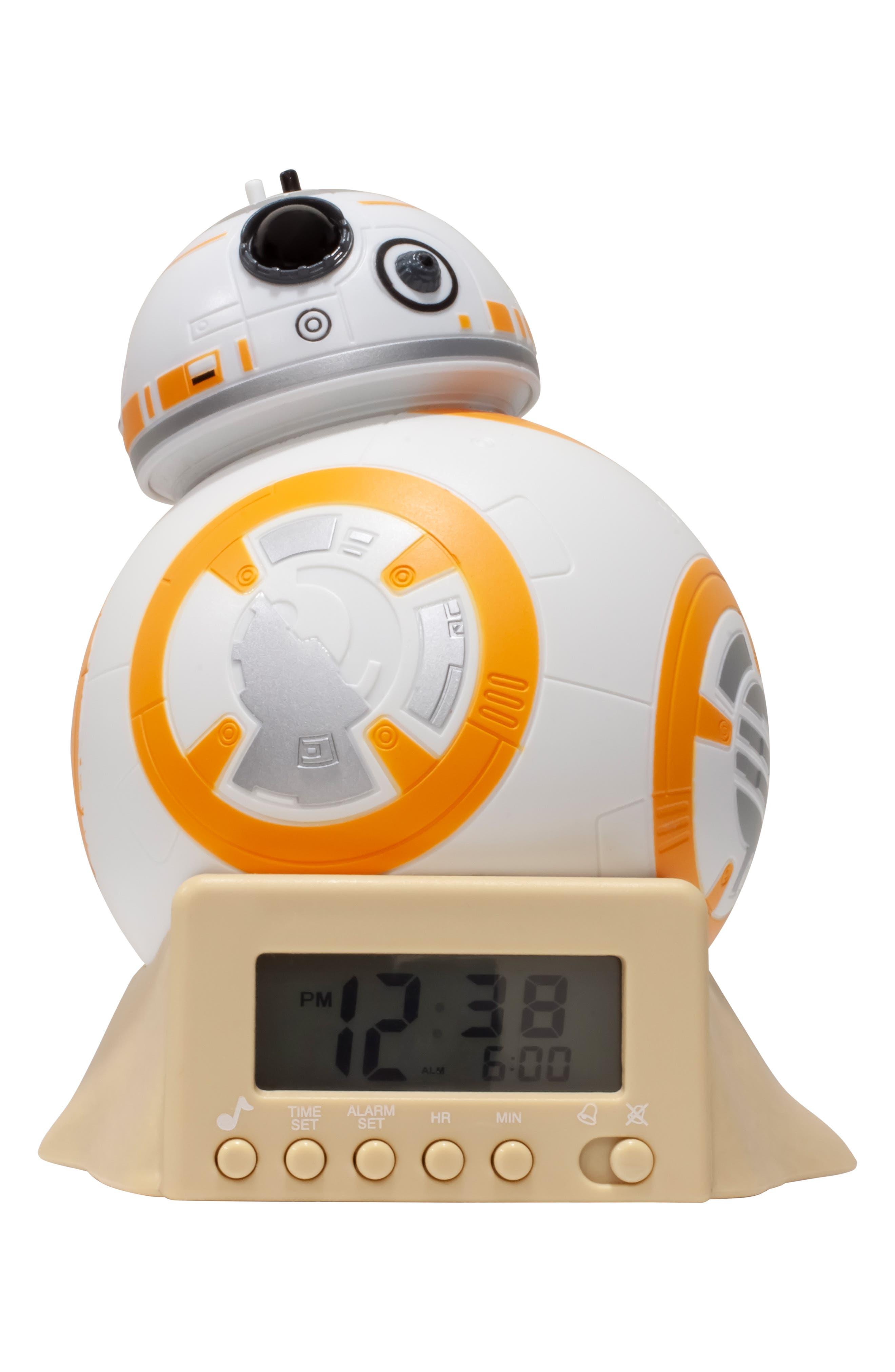 LEGO<SUP>®</SUP> BulbBotz Star Wars<sup>™</sup> BB-8 Night Light Alarm Clock, Main, color, 100