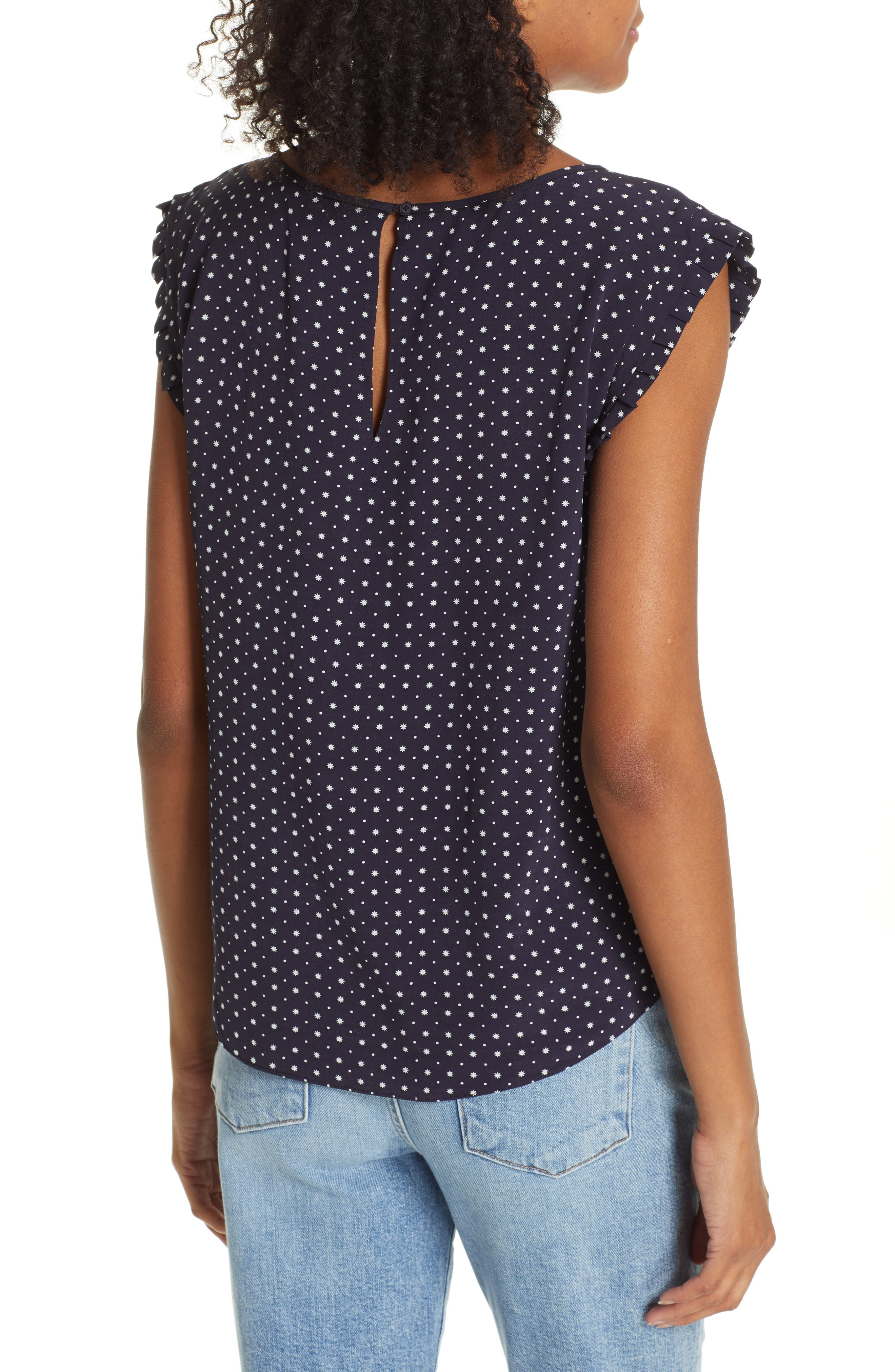 JOIE, Laurelle Print Woven Top, Alternate thumbnail 2, color, 410