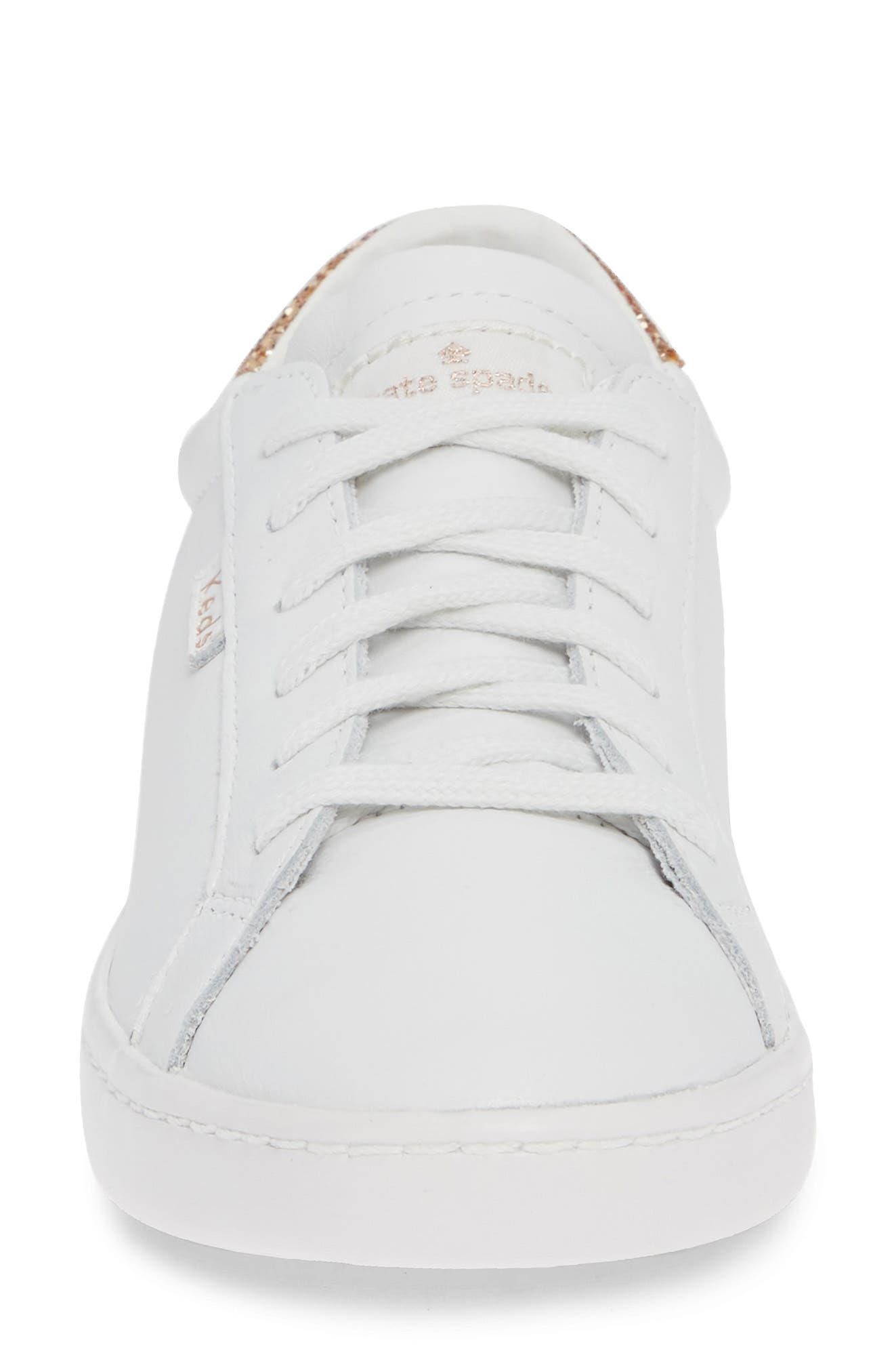 KEDS<SUP>®</SUP> FOR KATE SPADE NEW YORK, ace glitter sneaker, Alternate thumbnail 4, color, 100