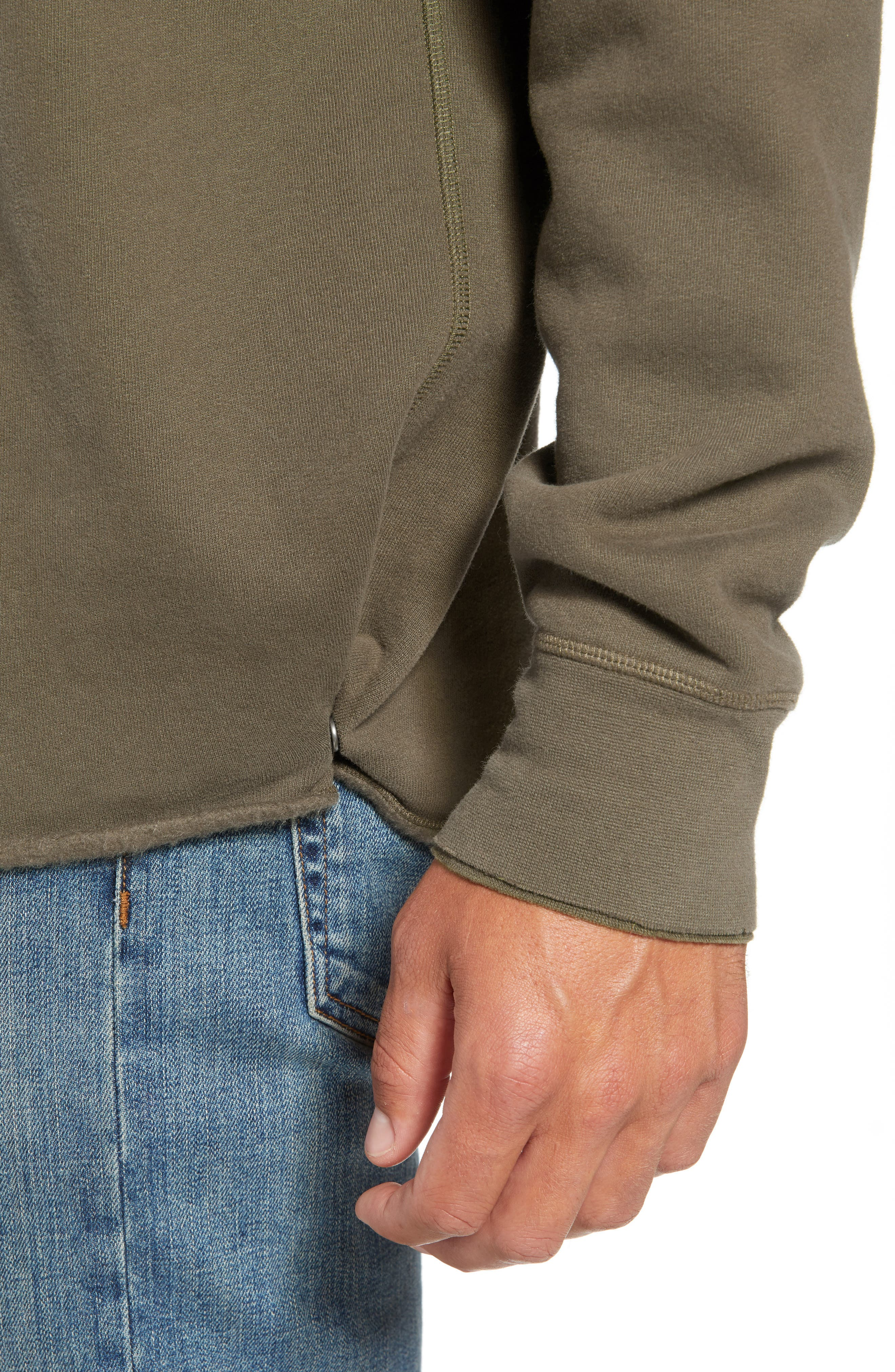 LEVI'S<SUP>®</SUP> MADE & CRAFTED<SUP>™</SUP>, Unhemmed Regular Fit Hoodie, Alternate thumbnail 4, color, 300