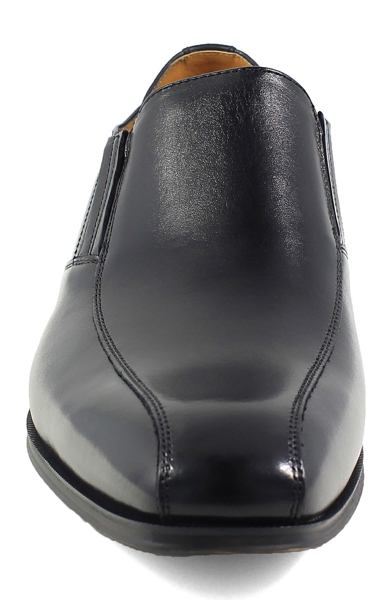FLORSHEIM, Corbetta Venetian Loafer, Alternate thumbnail 4, color, BLACK