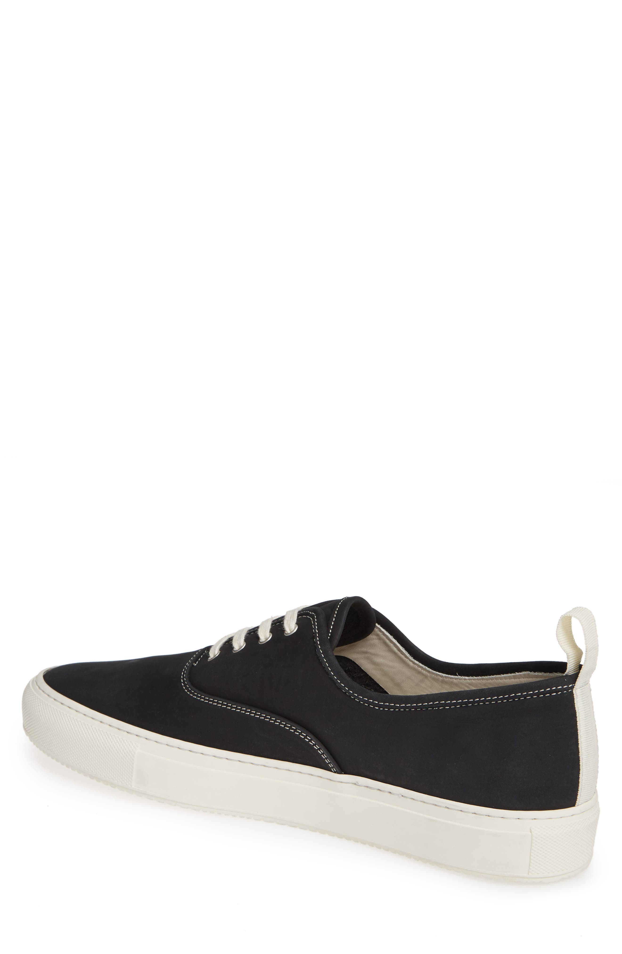 COMMON PROJECTS, Four-Hole Sneaker, Alternate thumbnail 2, color, BLACK