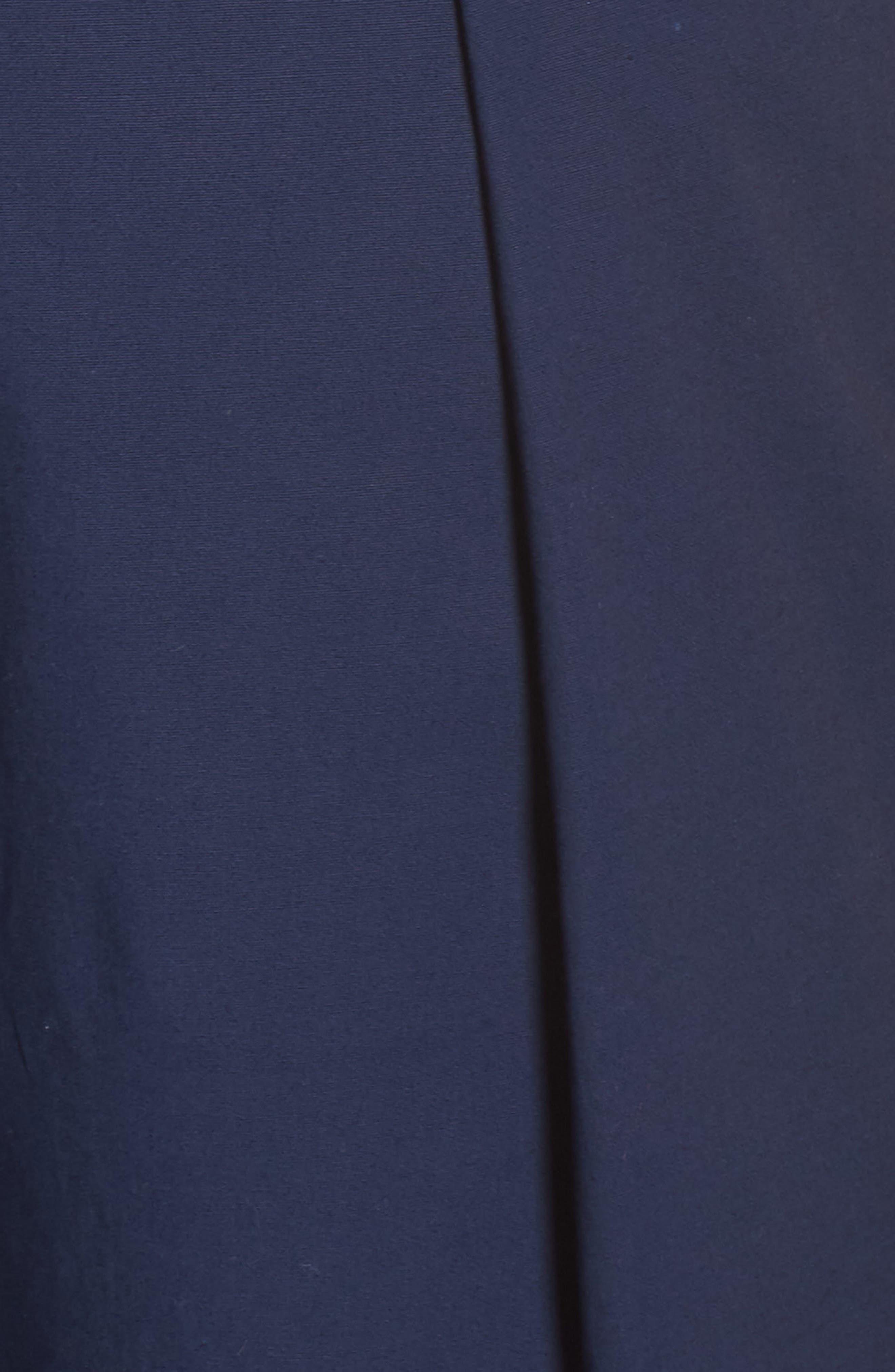 1901, Pleat Collar Sleeveless Jumpsuit, Alternate thumbnail 6, color, NAVY