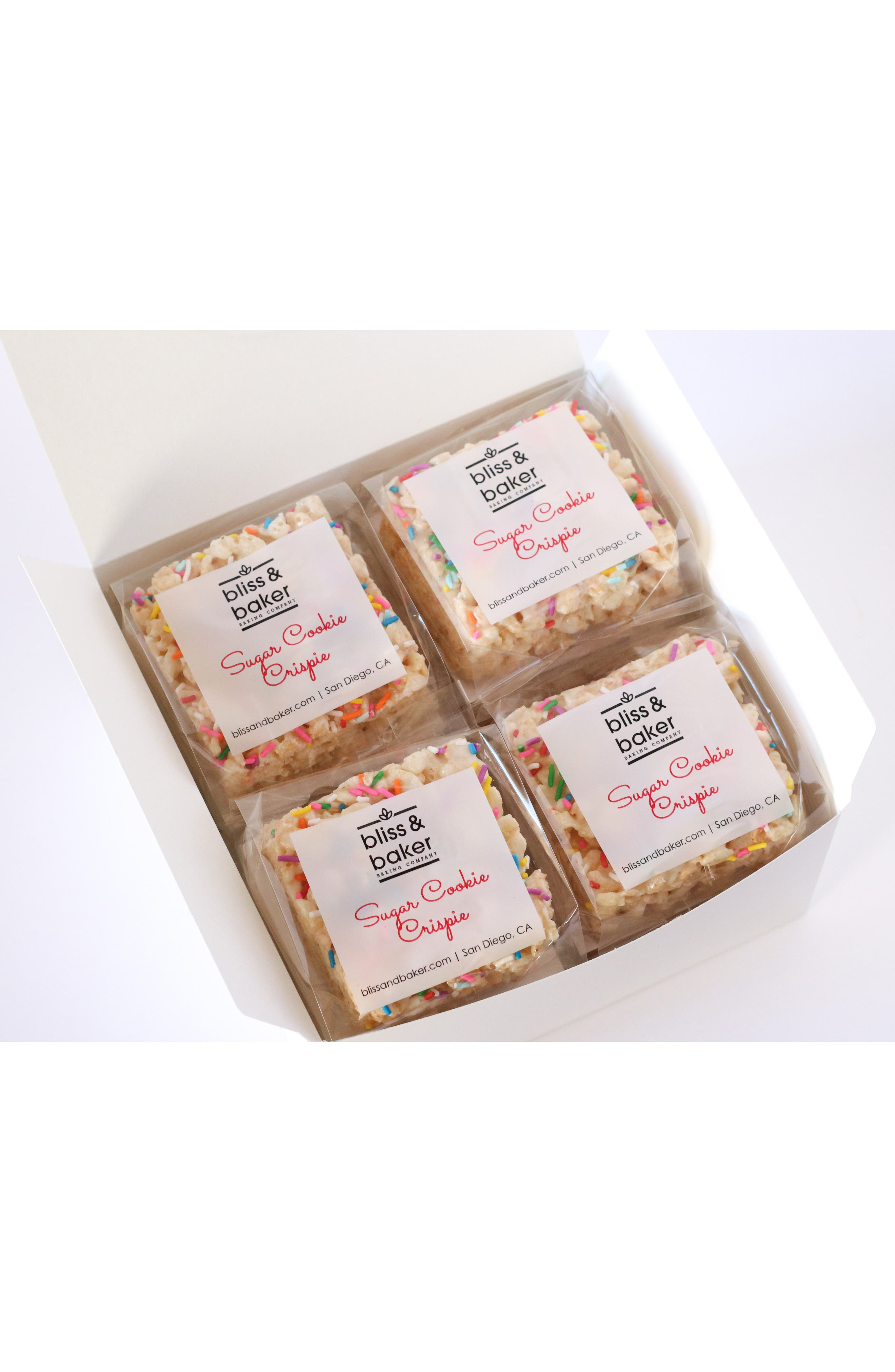 BLISS AND BAKER, Large Crispie Treat Gift Box, Main thumbnail 1, color, SUGAR COOKIE