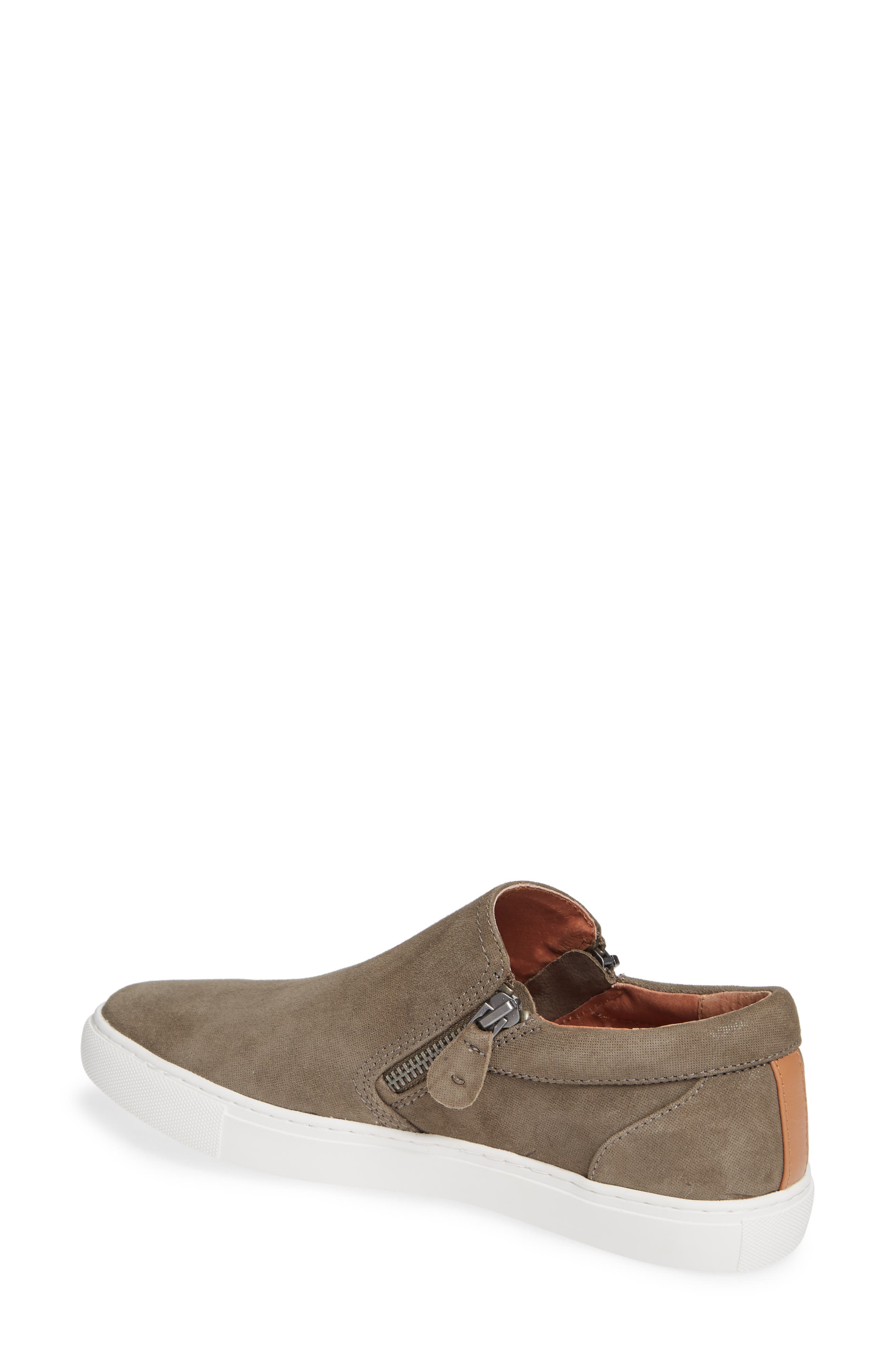 GENTLE SOULS BY KENNETH COLE, Lowe Sneaker, Alternate thumbnail 2, color, CEMENT SUEDE