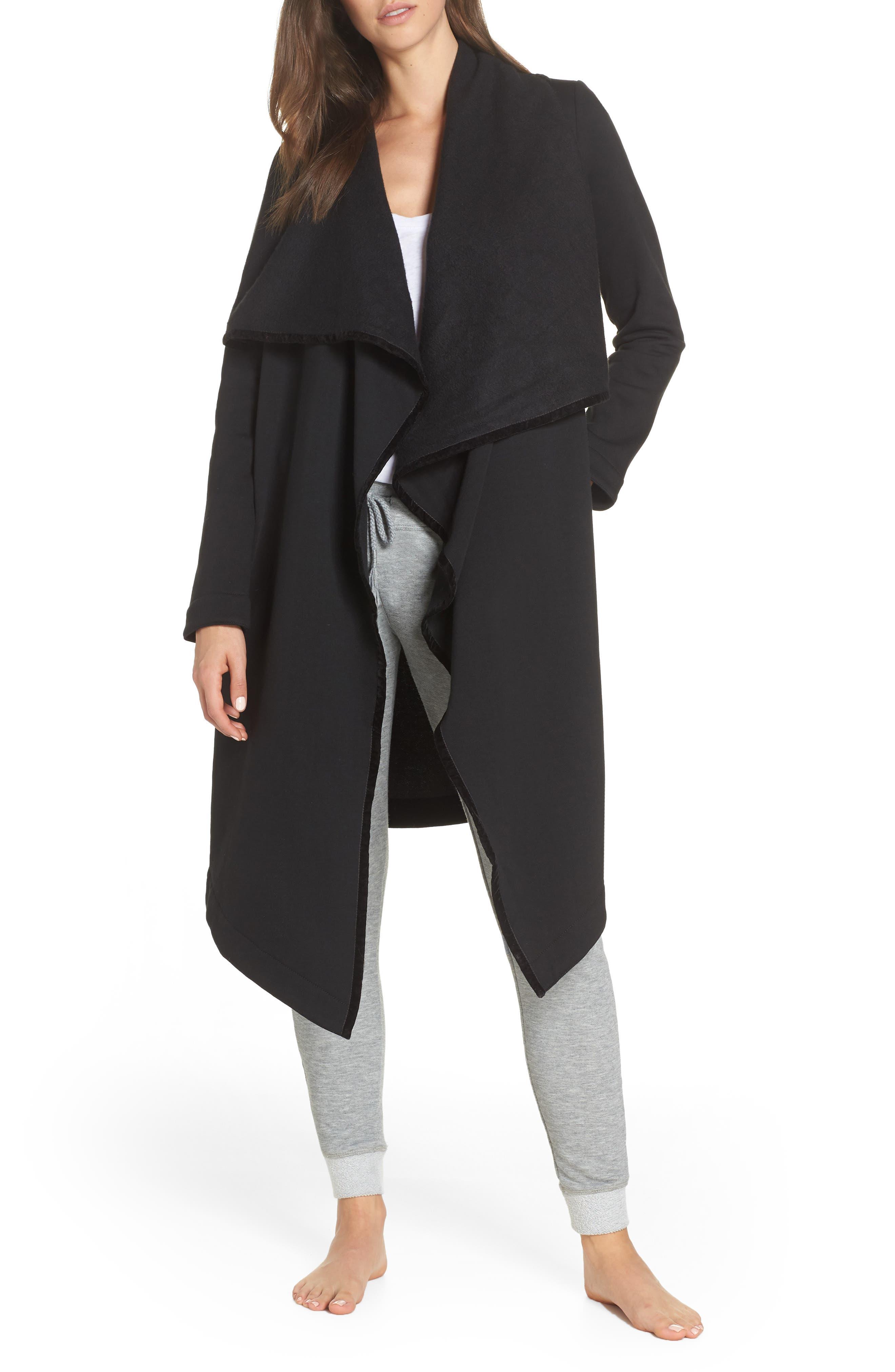 UGG<SUP>®</SUP> Janni Fleece Cardigan, Main, color, BLACK