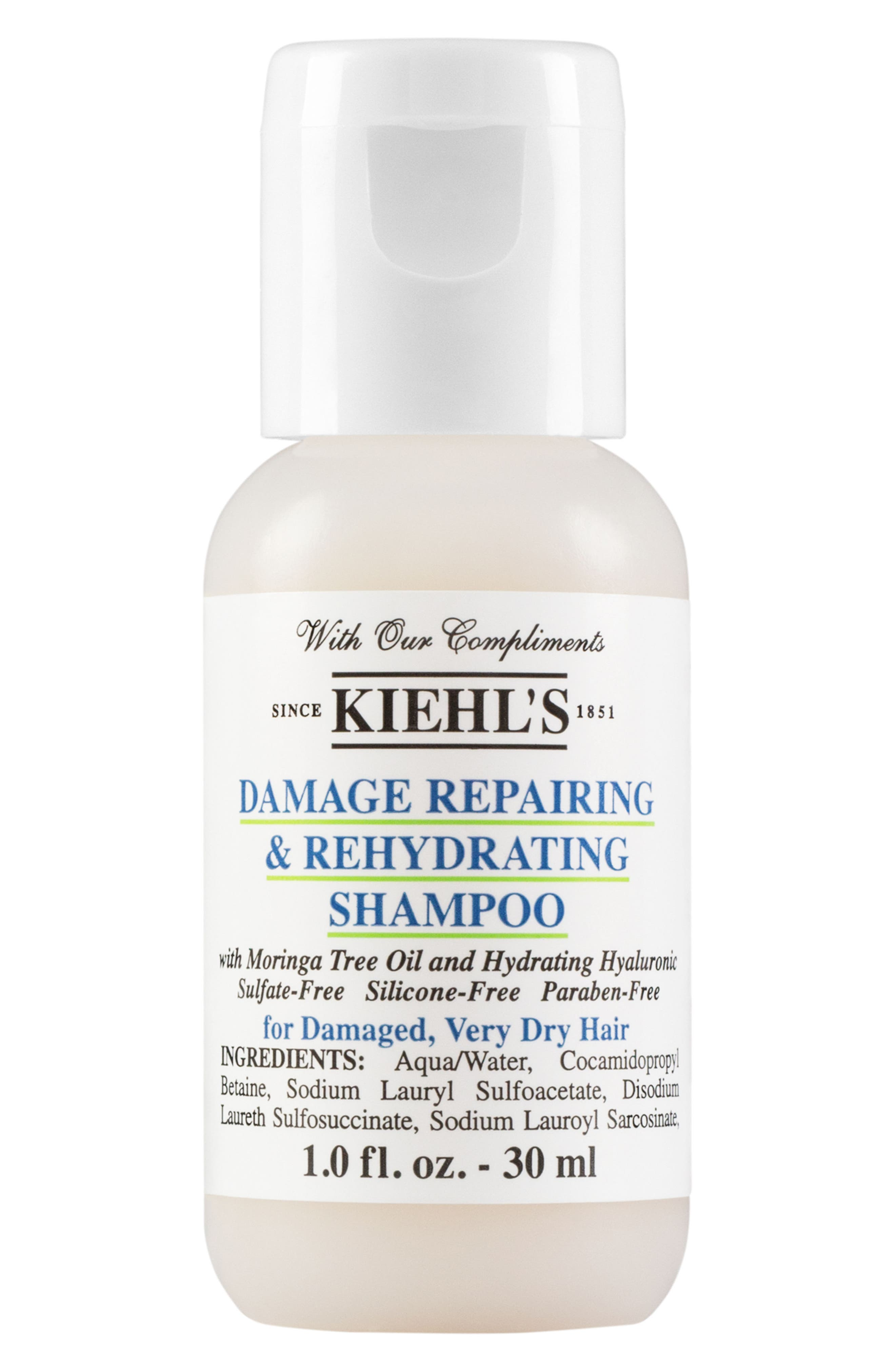 KIEHL'S SINCE 1851 Damage Repairing & Rehydrating Shampoo, Main, color, NO COLOR