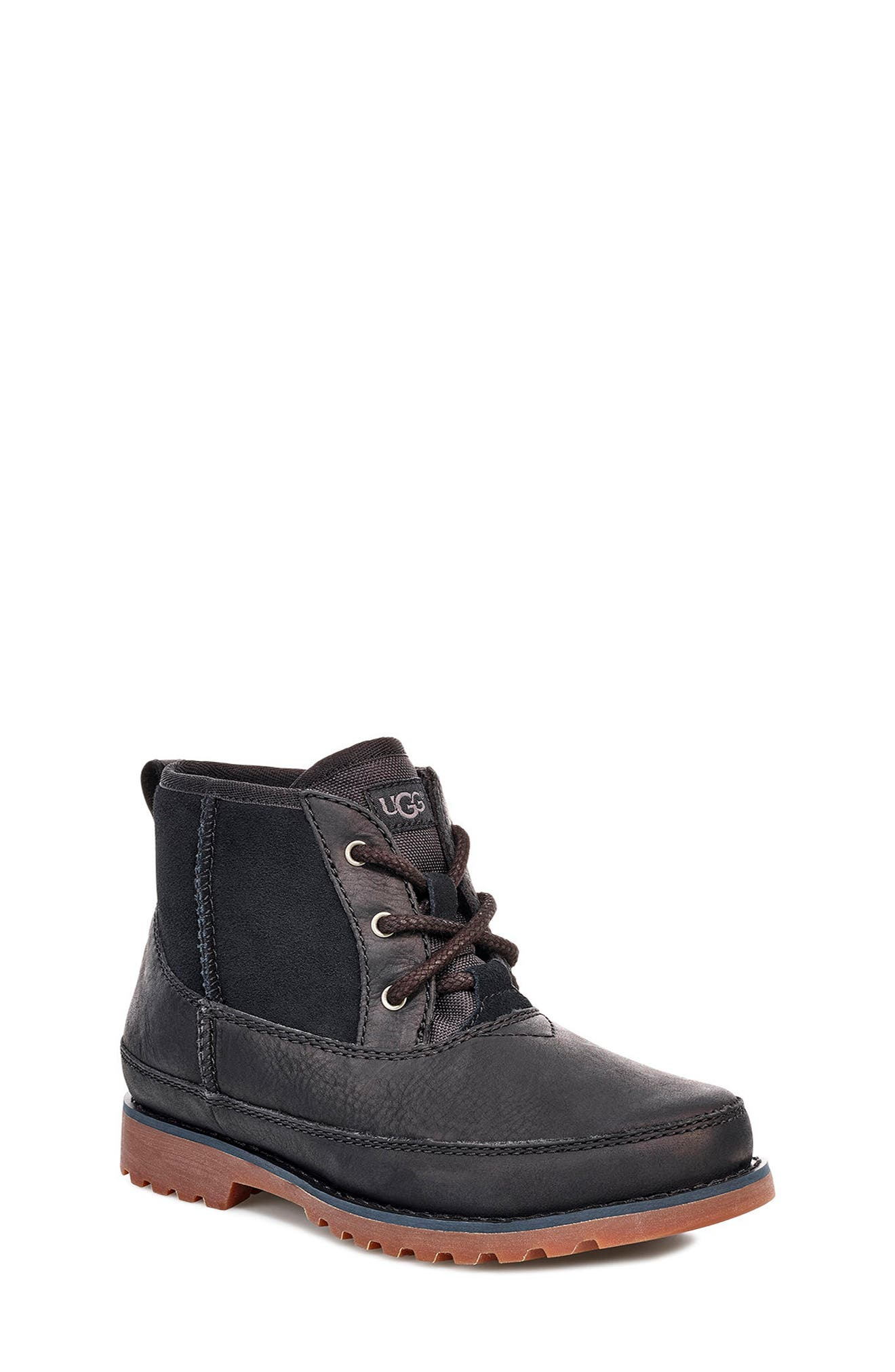 UGG<SUP>®</SUP>, Bradley Waterproof Boot, Alternate thumbnail 5, color, BLACK