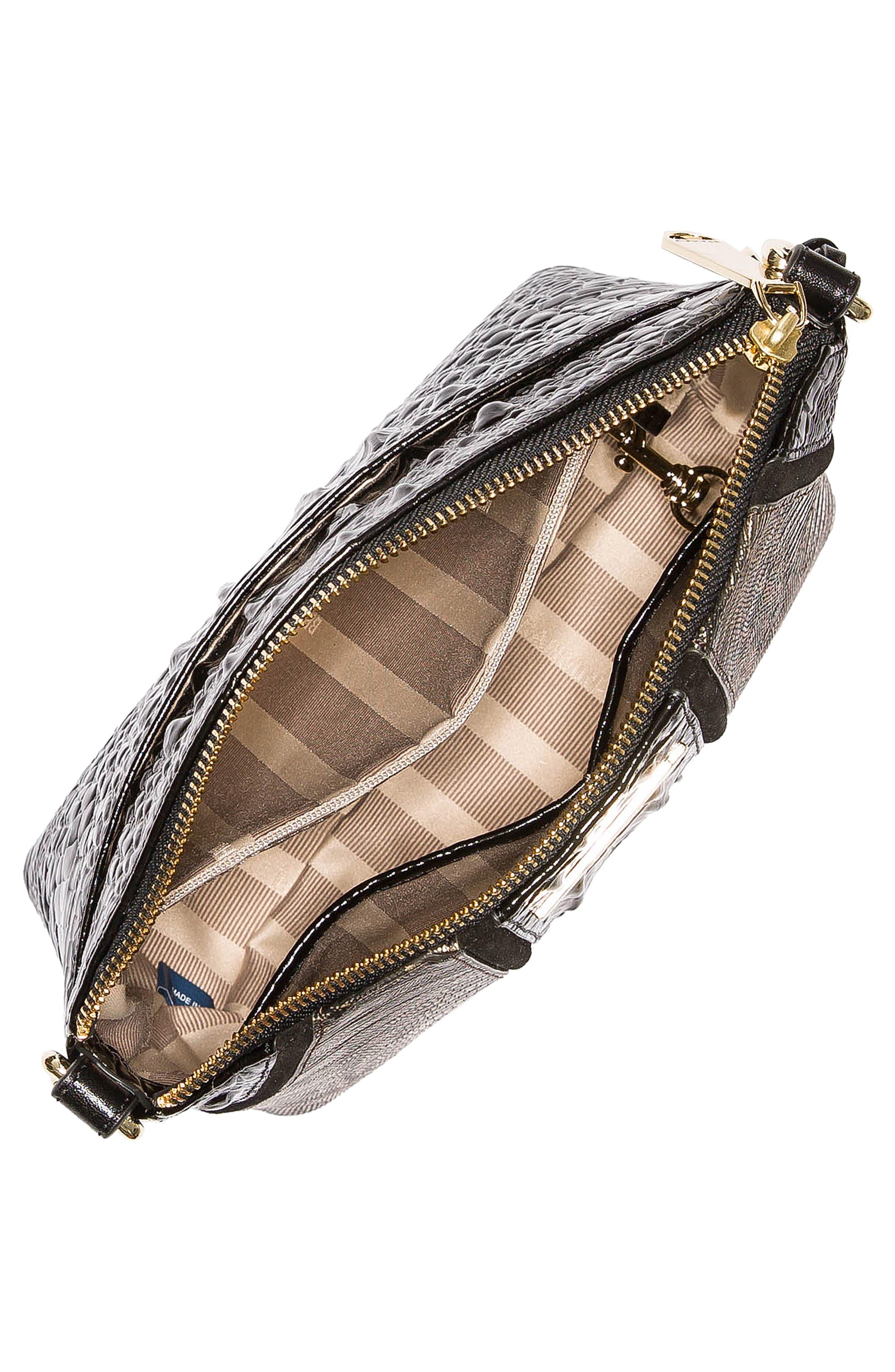 BRAHMIN, Mini Duxbury Embossed Leather Crossbody Bag, Alternate thumbnail 3, color, 028