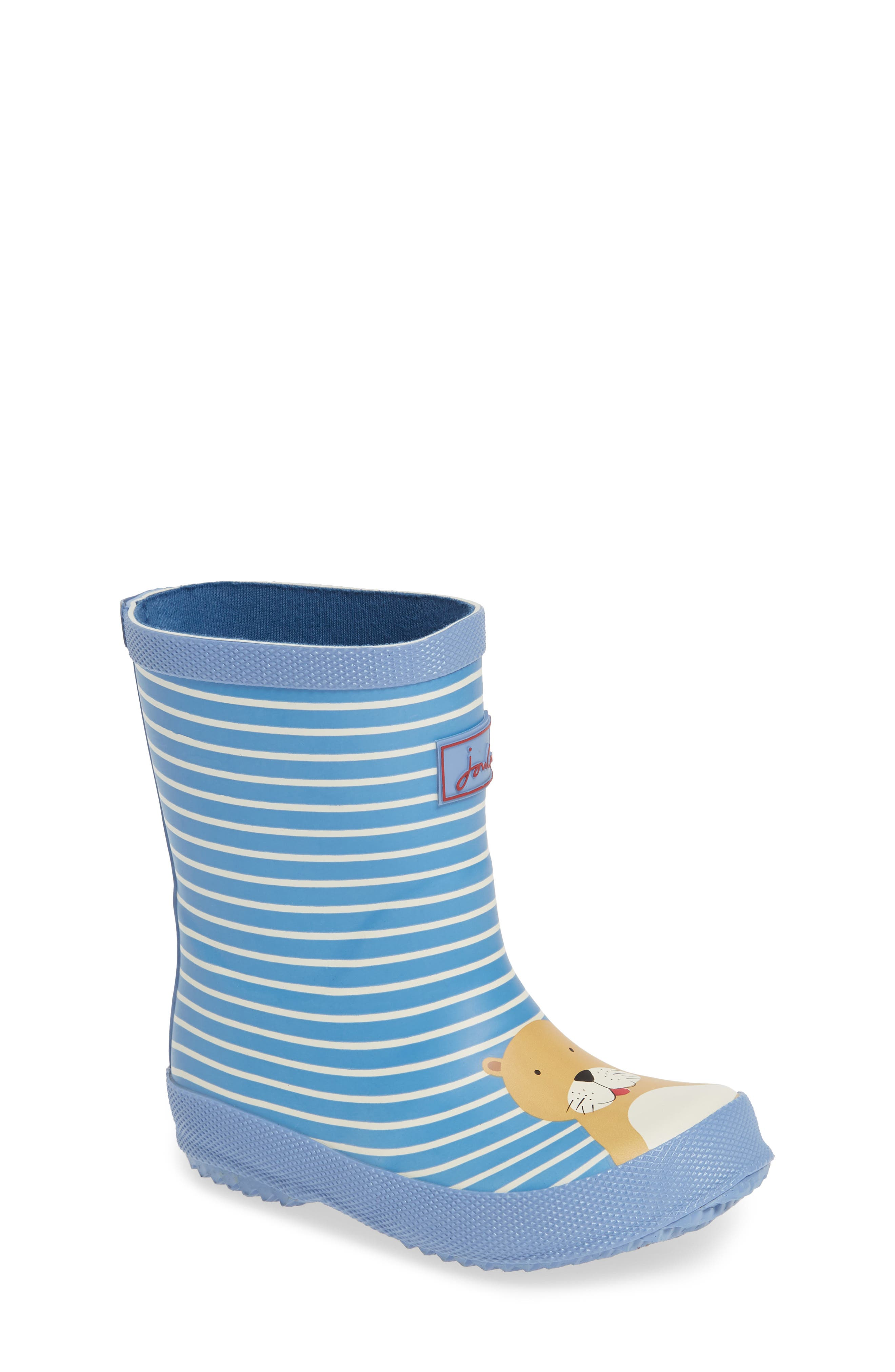 JOULES Print Welly Rain Boot, Main, color, 430