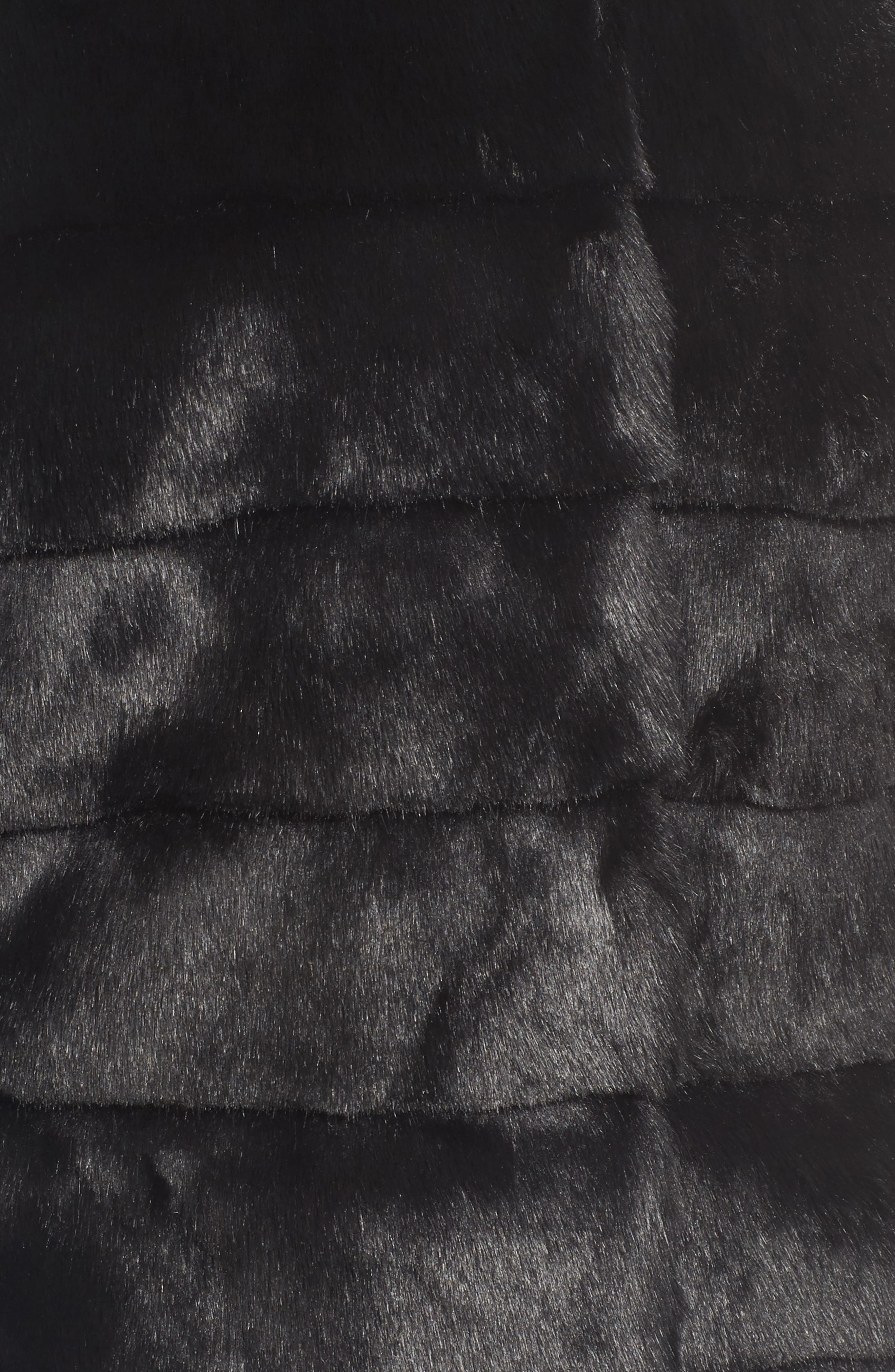ELIZA J, Grooved FauxFur Coat, Alternate thumbnail 6, color, 001