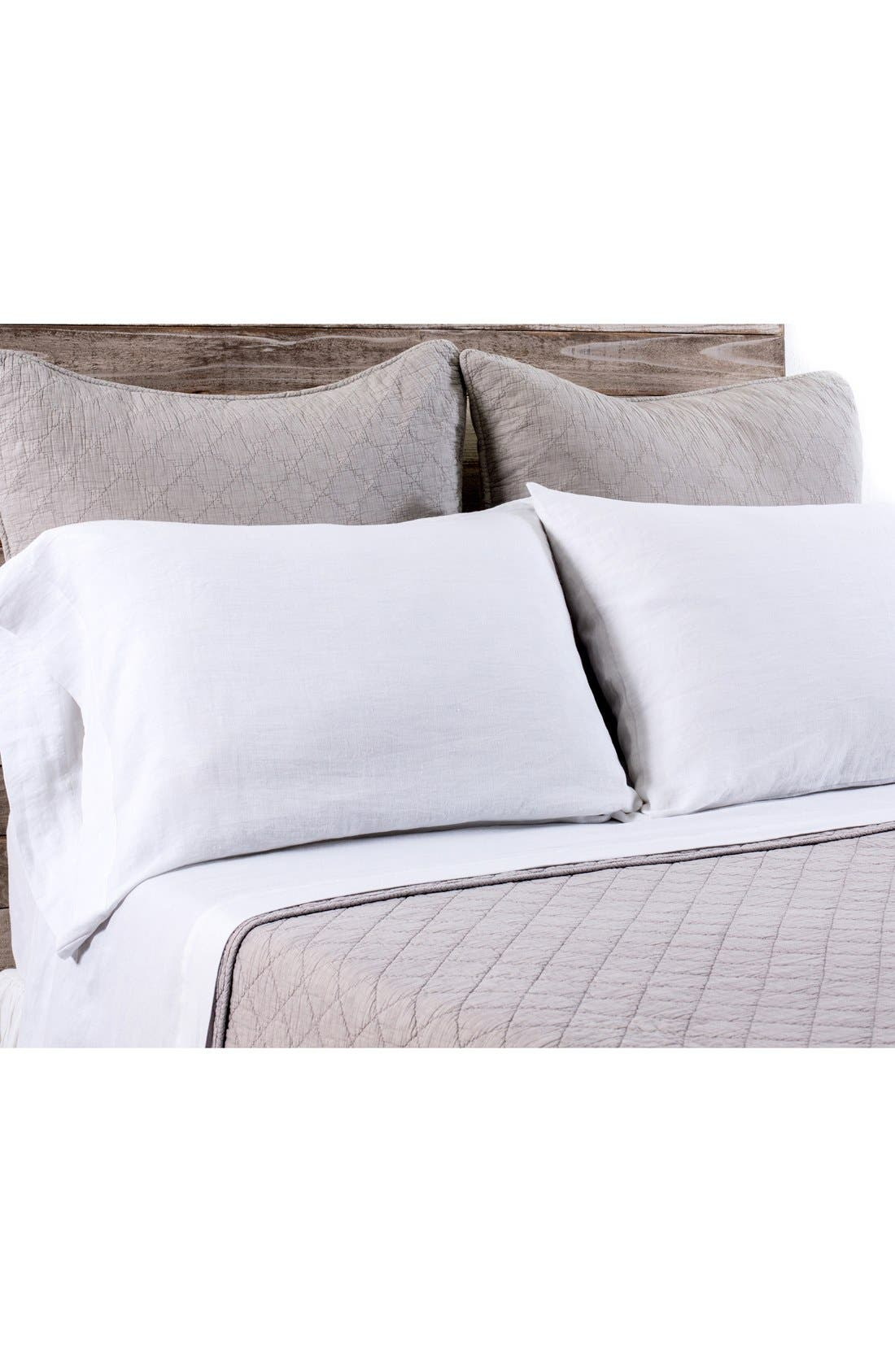 POM POM AT HOME, 'Huntington' Coverlet, Main thumbnail 1, color, TAUPE