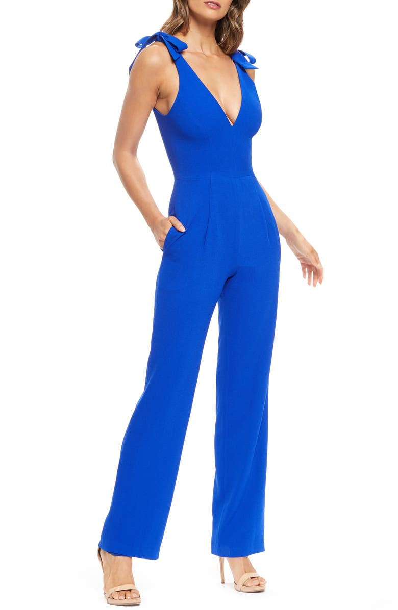 Dress The Population Suits MAIRA TIE SHOULDER CREPE JUMPSUIT