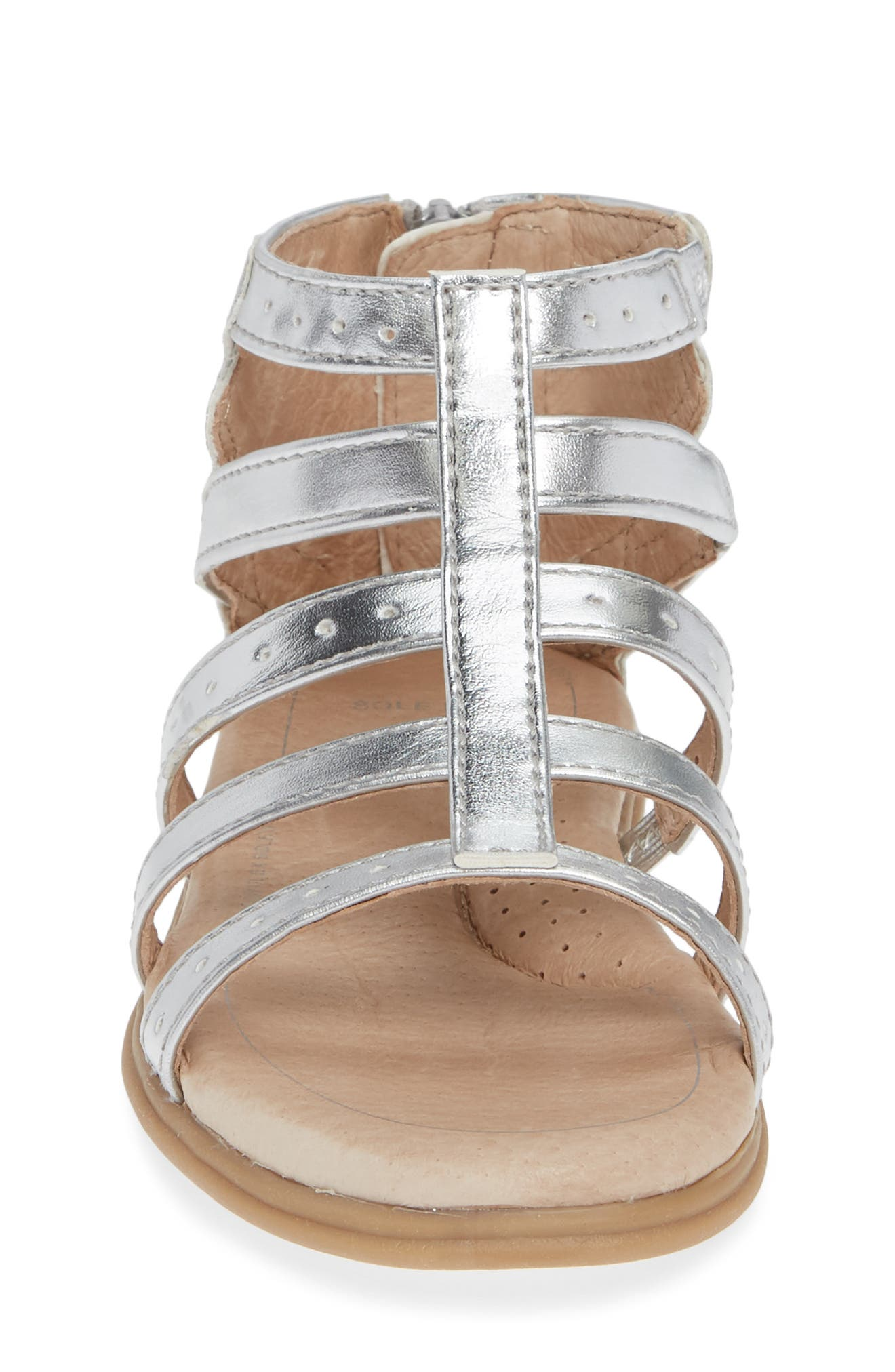 SOLE PLAY, Camille Metallic Sandal, Alternate thumbnail 4, color, SILVER