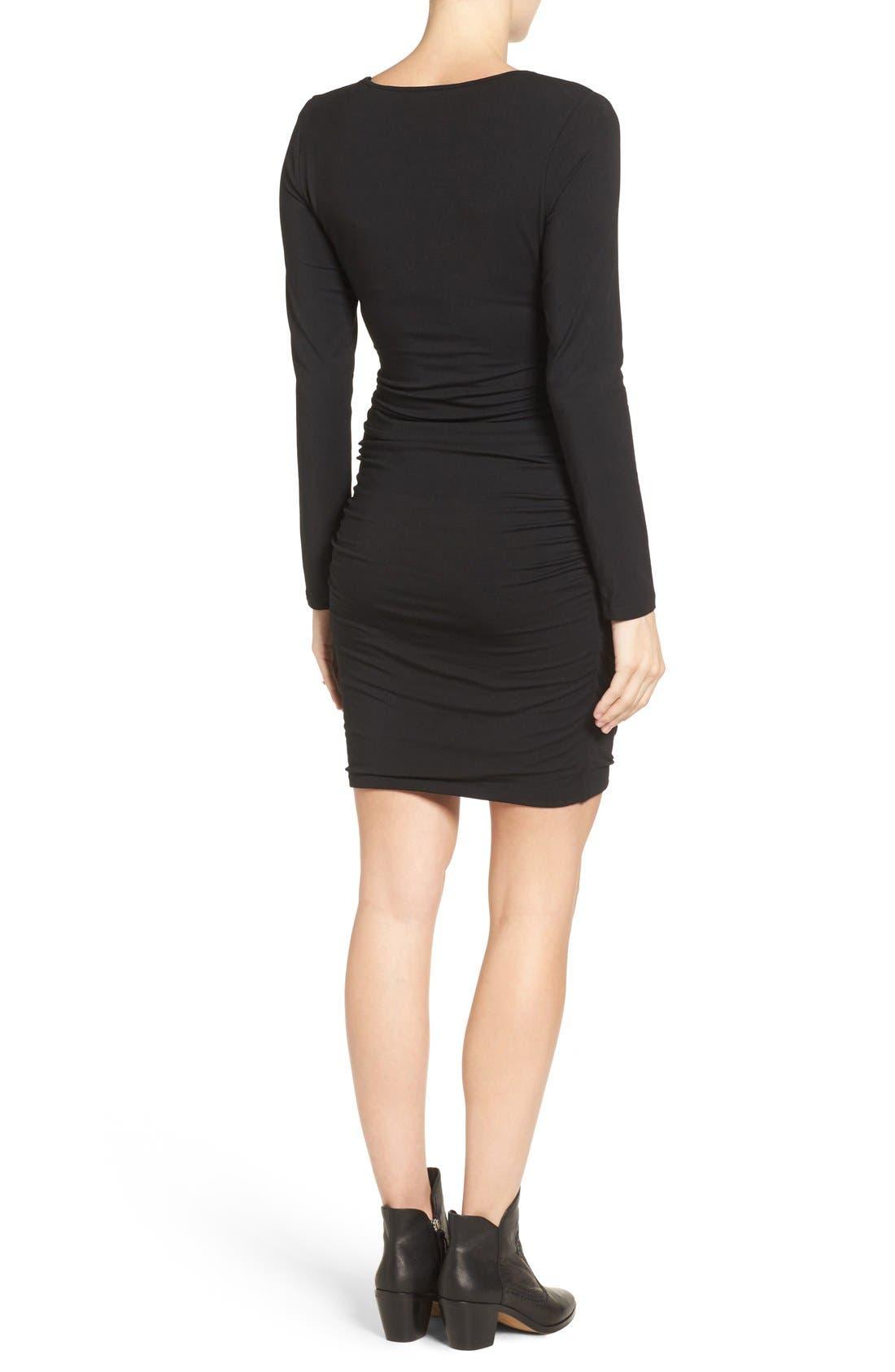TART MATERNITY, Tart 'Peaches' Maternity Body-Con Dress, Main thumbnail 1, color, BLACK