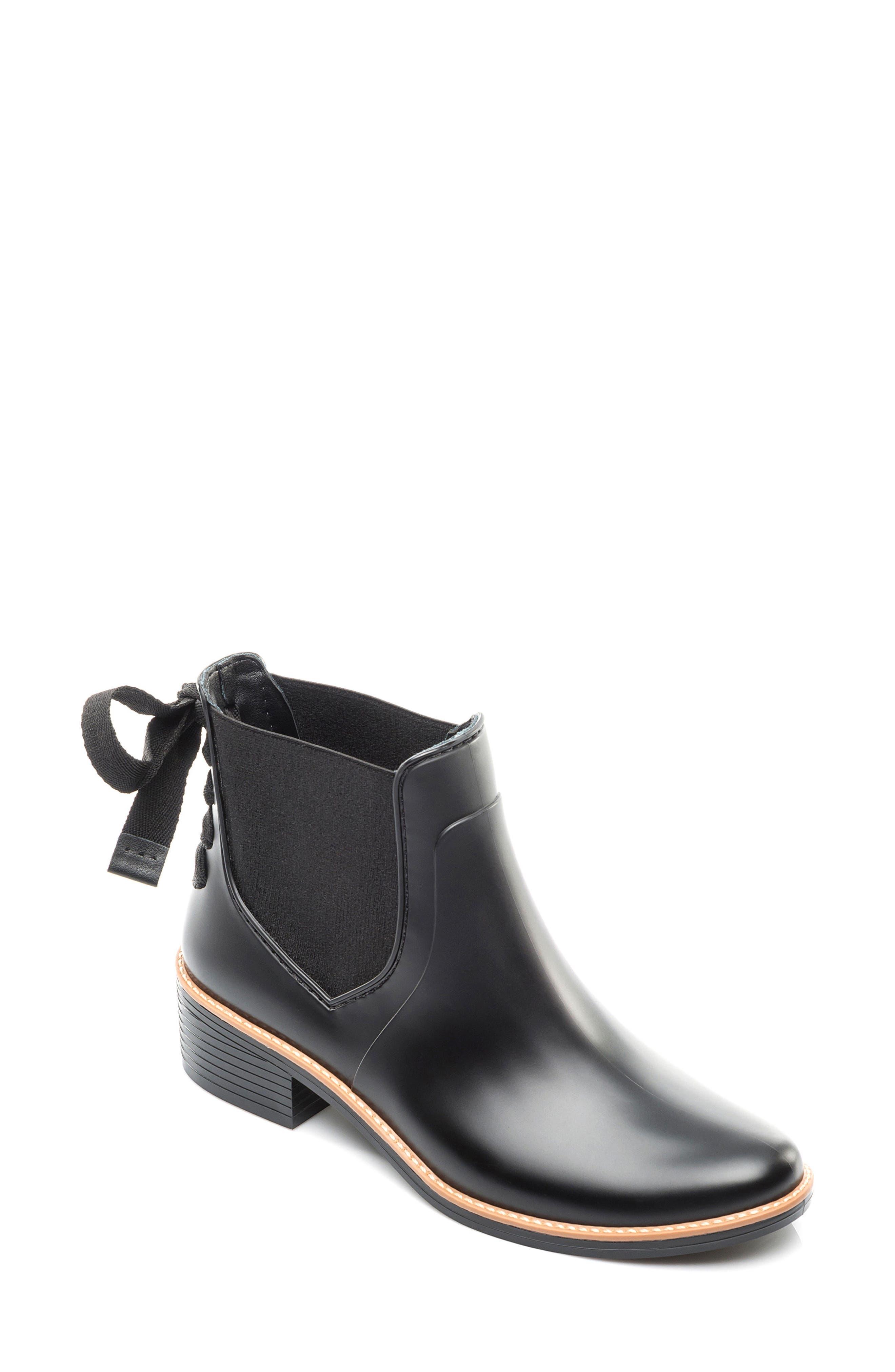 BERNARDO, Paxton Waterproof Rain Boot, Main thumbnail 1, color, BLACK
