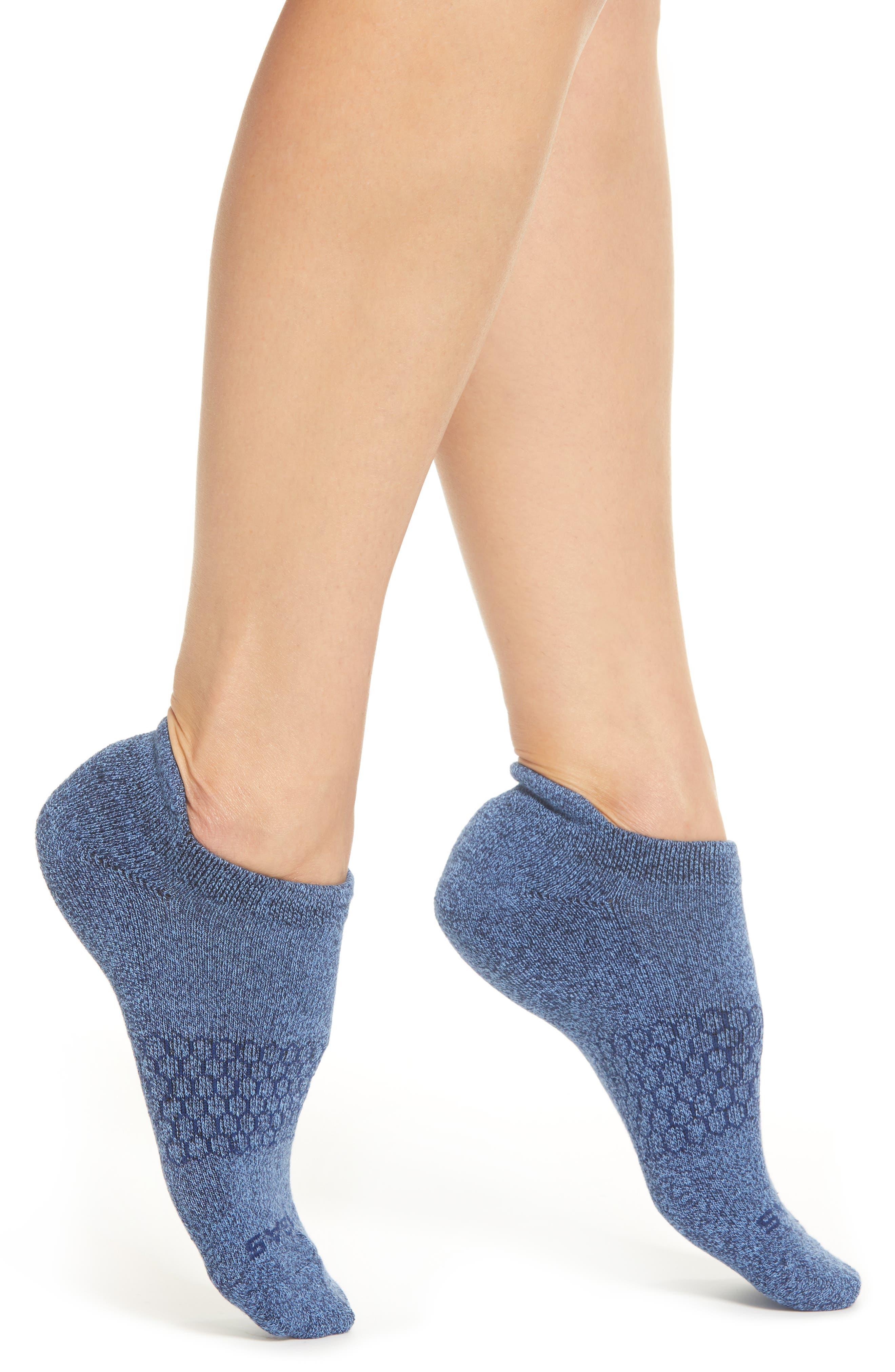 BOMBAS, Bright Marls Tab Ankle Socks, Main thumbnail 1, color, CERULEAN