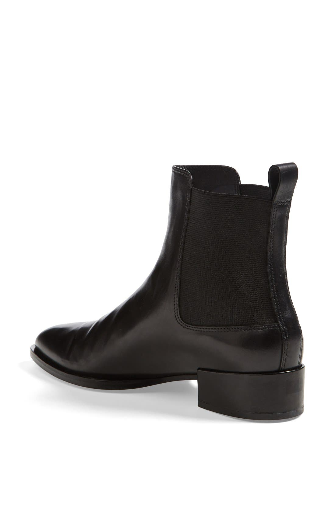 VINCE, 'Yarmon' Almond Toe Calfskin Leather Chelsea Boot, Alternate thumbnail 3, color, 002