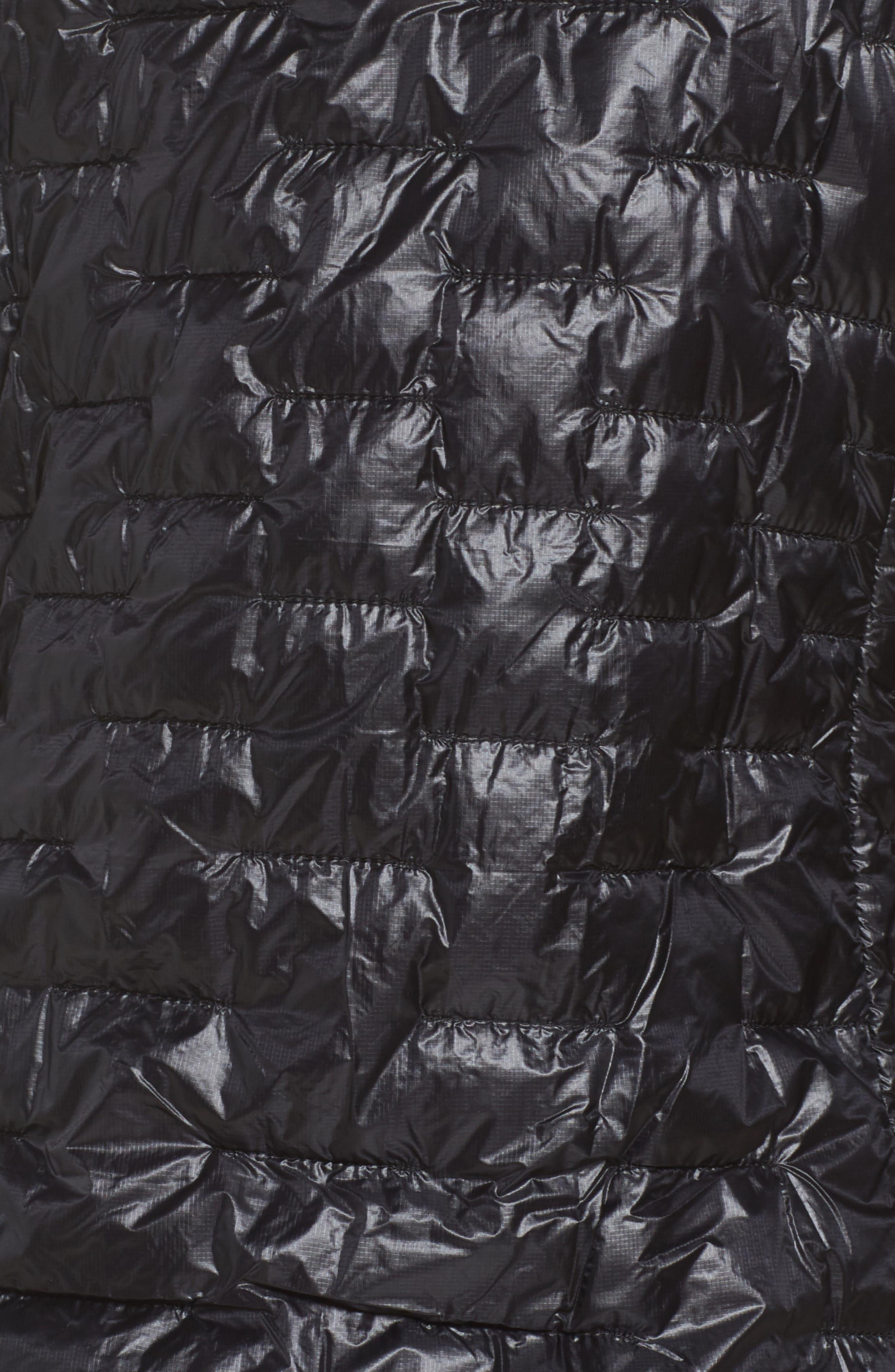 PATAGONIA, Micro Puff Hoodie, Alternate thumbnail 7, color, BLACK