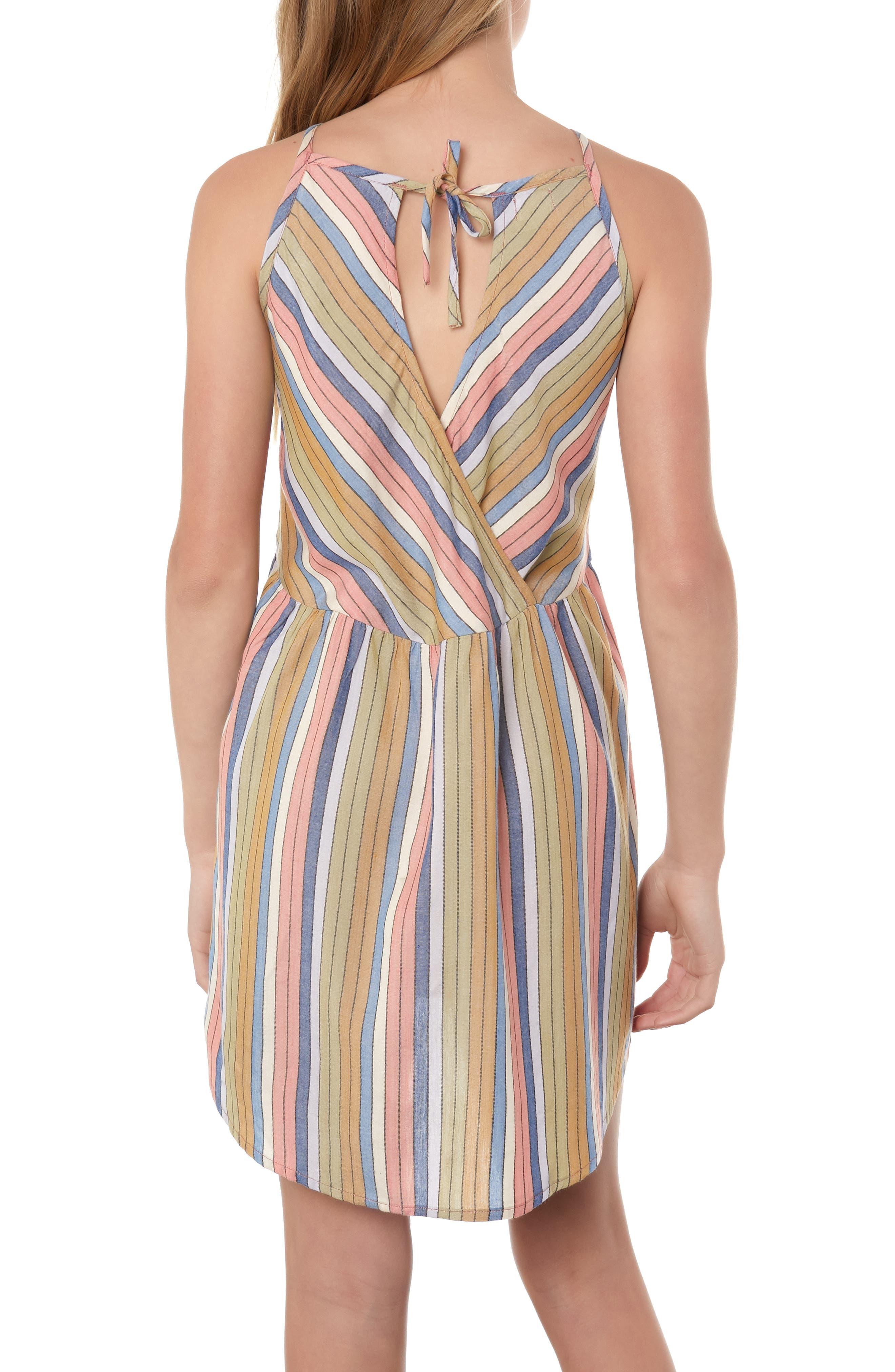 O'NEILL, Berlin Stripe Sundress, Alternate thumbnail 3, color, 994