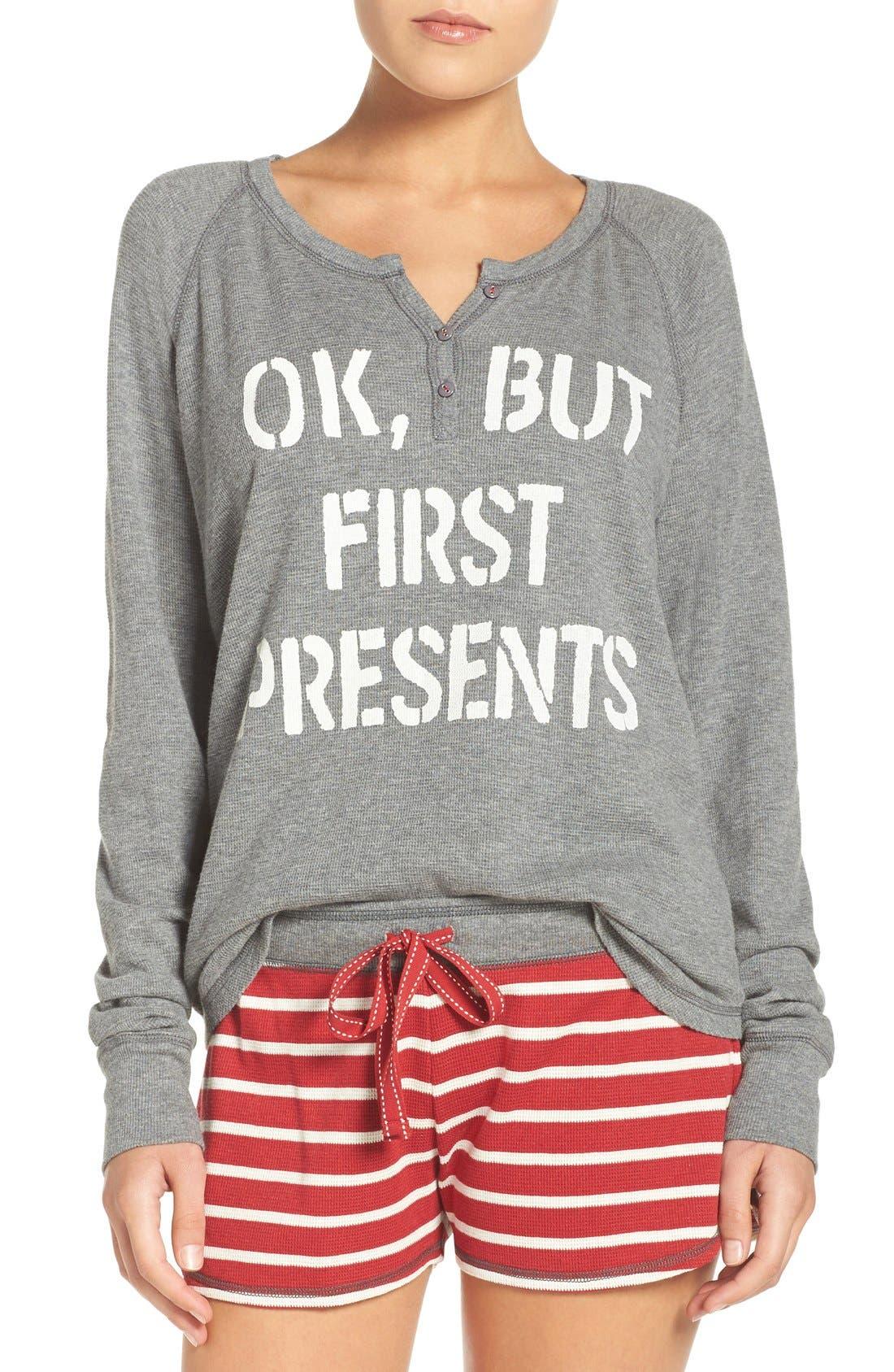 PJ SALVAGE Thermal Pajamas, Main, color, 020