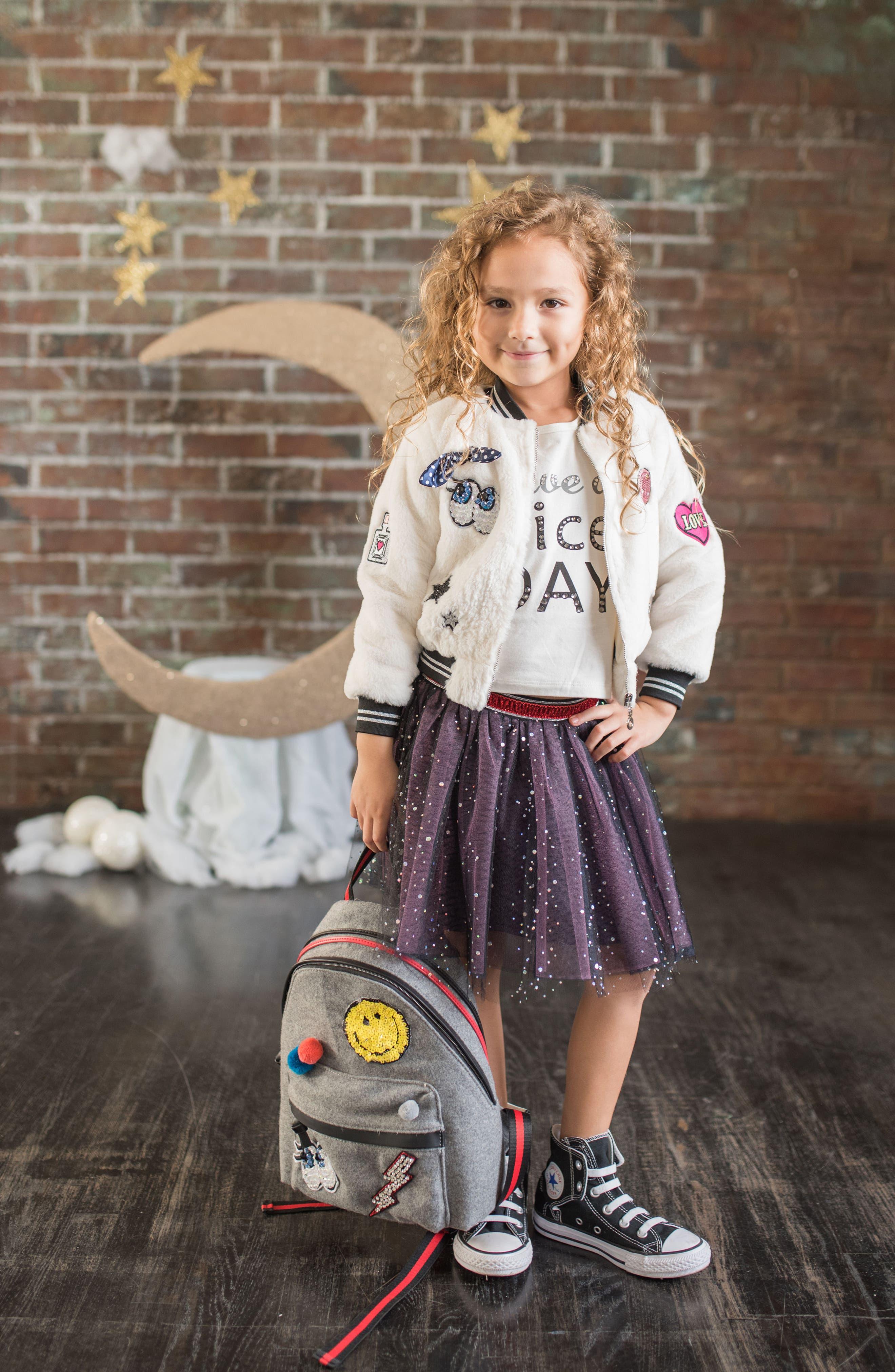 HANNAH BANANA, Mini Emoji & Pompom Backpack, Alternate thumbnail 2, color, 065