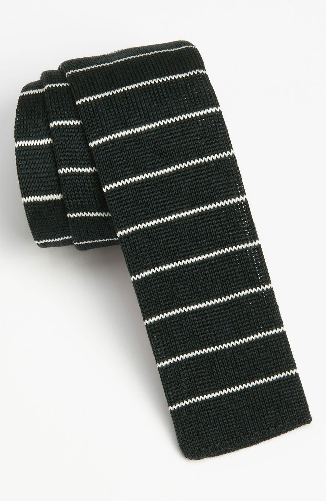 BOSS, HUGO BOSS Cotton Knit Tie, Main thumbnail 1, color, 301