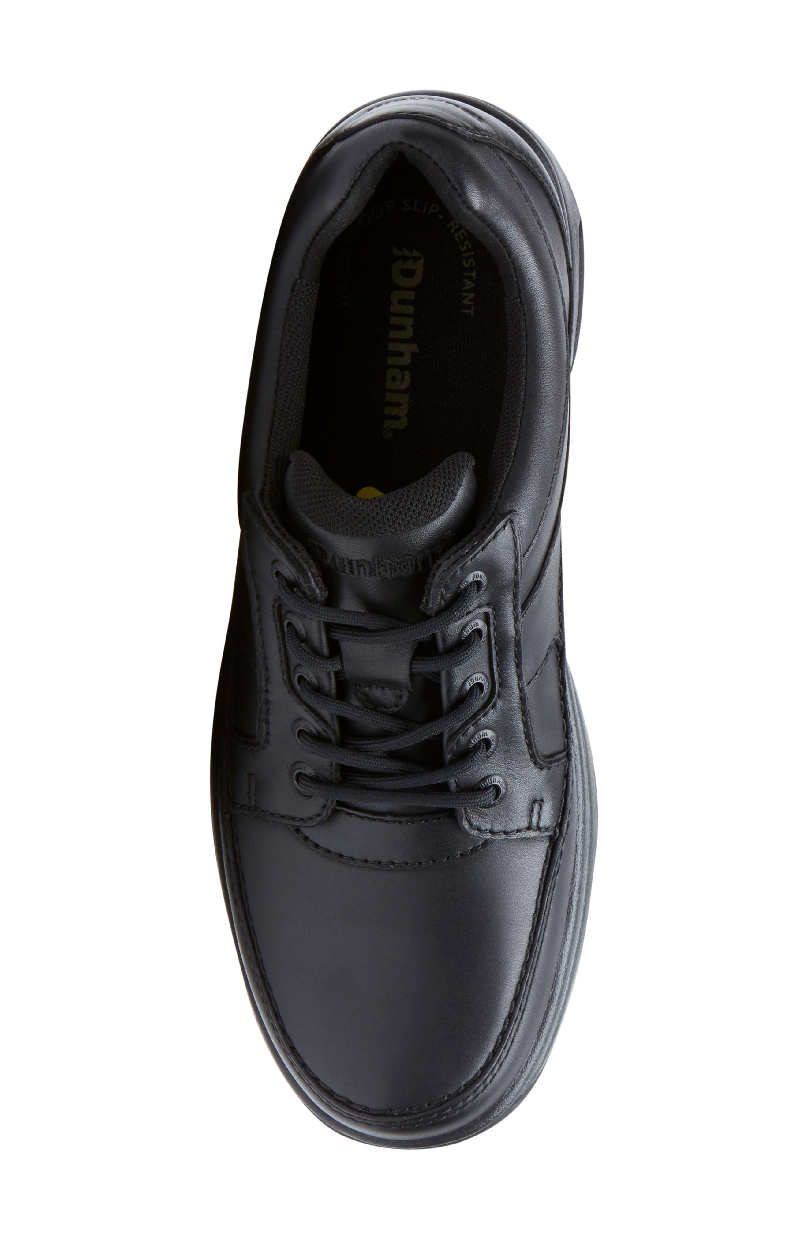 DUNHAM, 'Midland' Sneaker, Alternate thumbnail 5, color, BLACK LEATHER