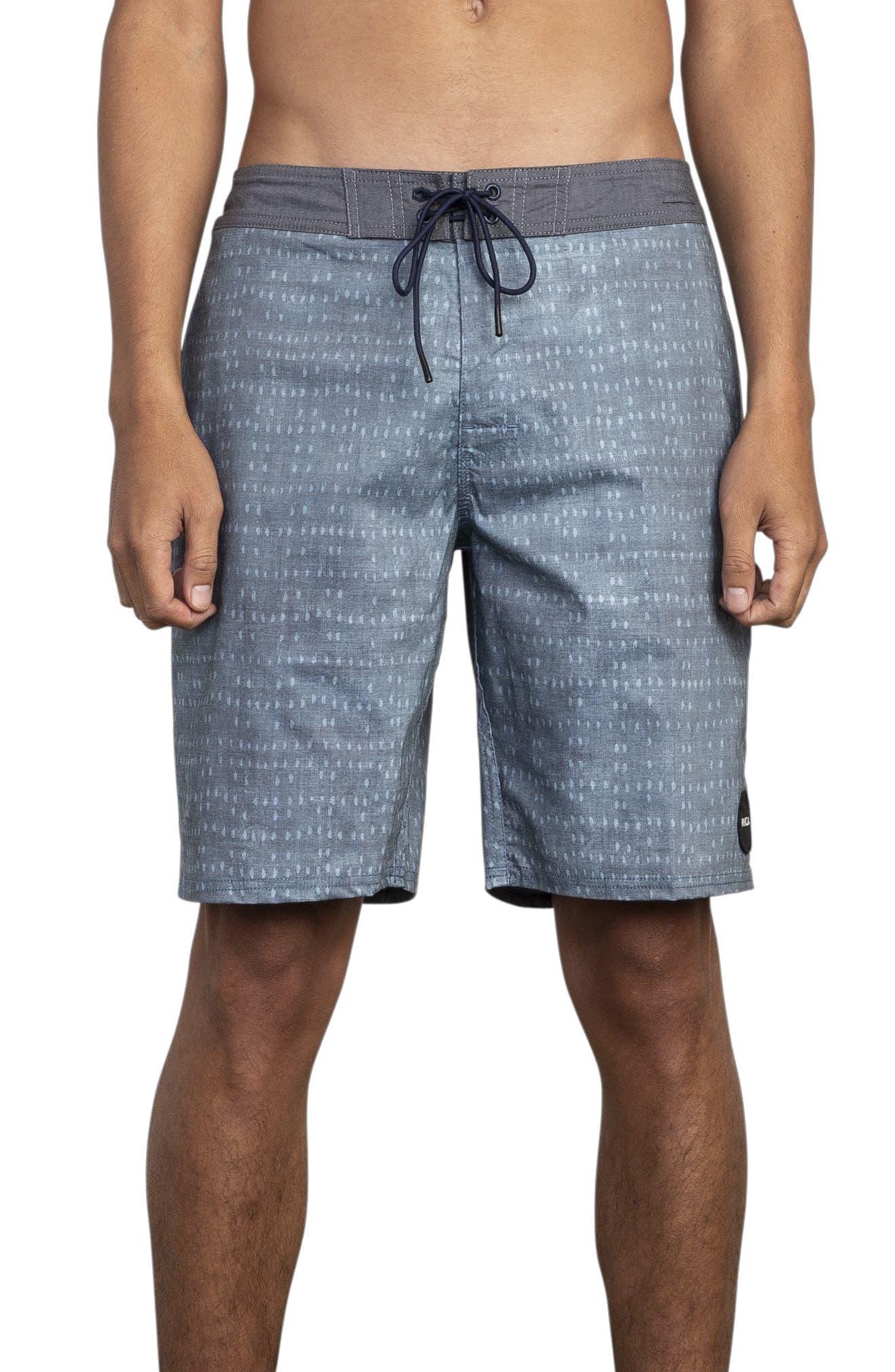 RVCA Nakama Board Shorts, Main, color, DENIM