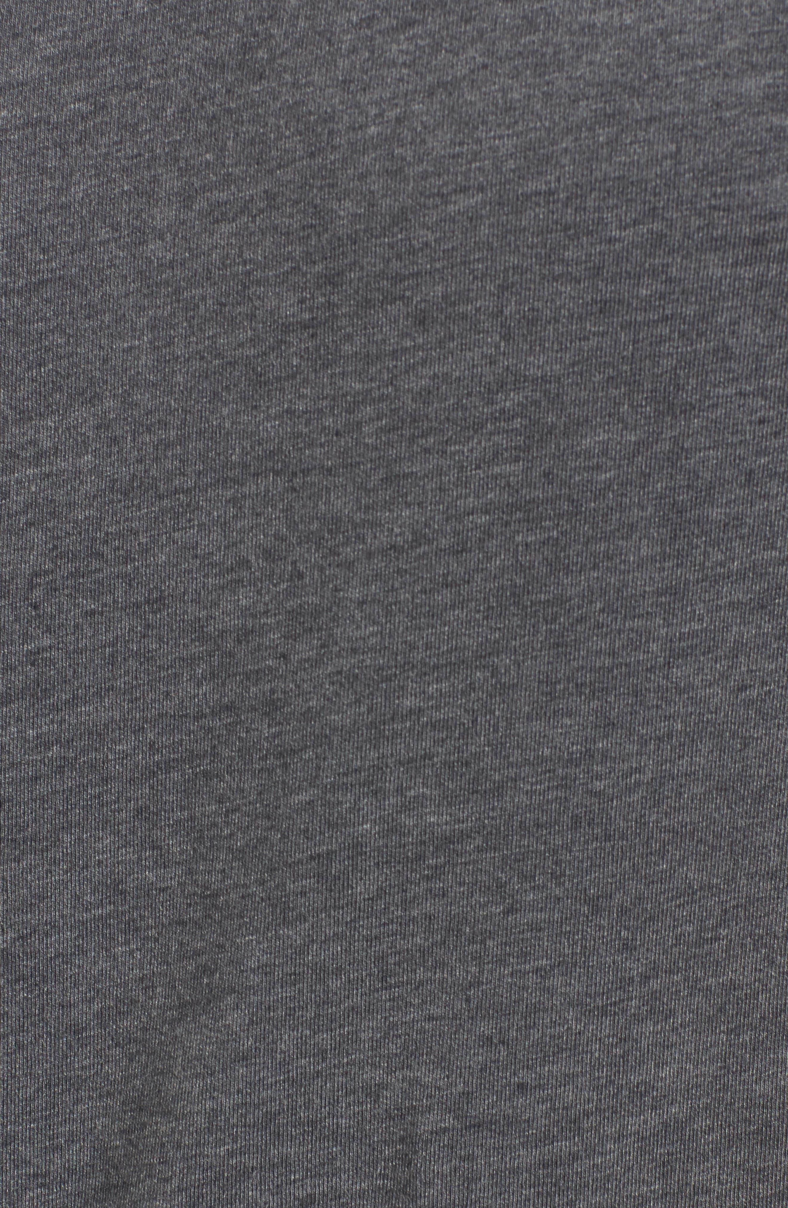 TASC PERFORMANCE, Legacy Crewneck Sweatshirt, Alternate thumbnail 5, color, BLACK HEATHER