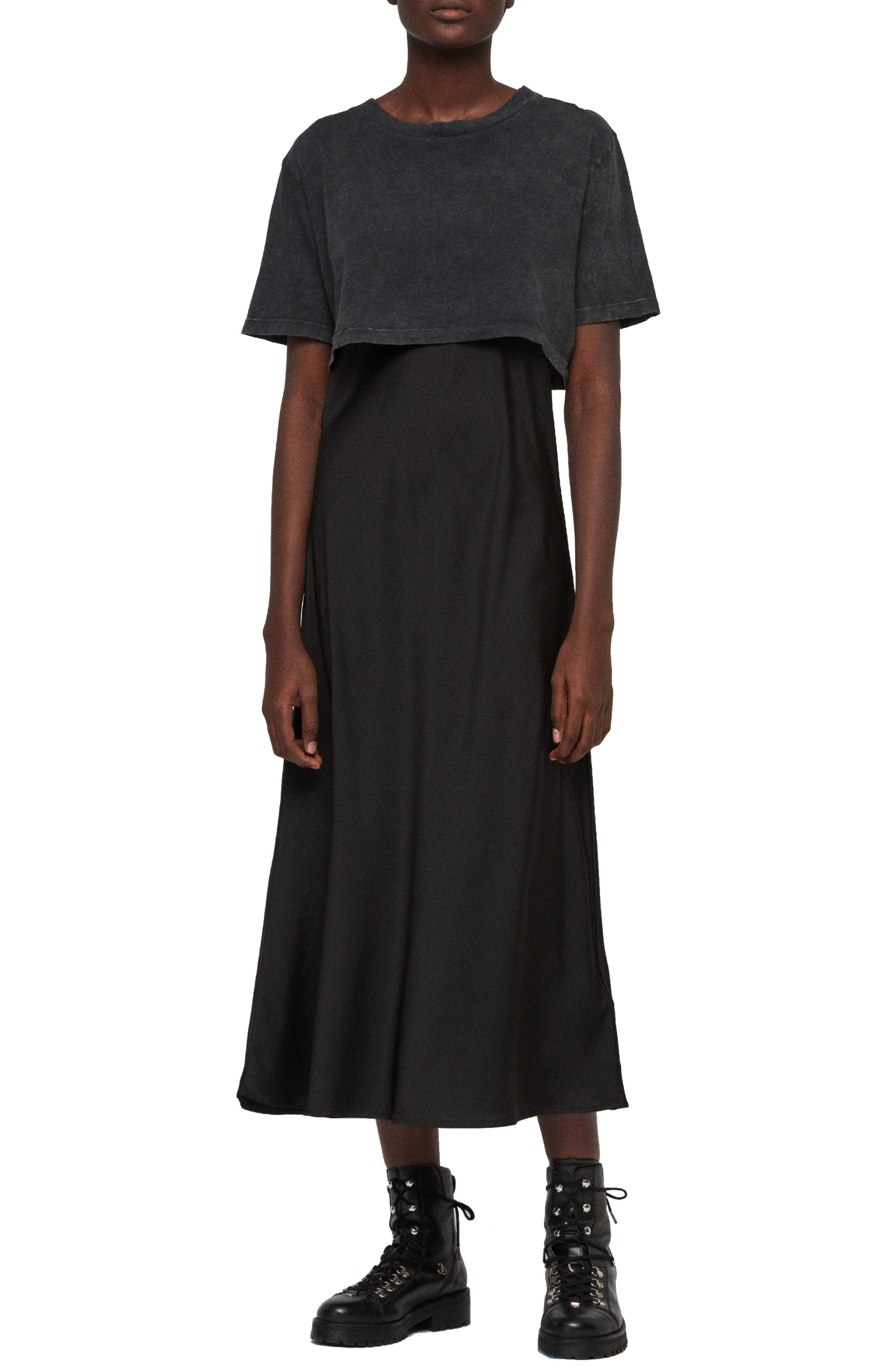 Benno Tee Topper Slipdress by Allsaints
