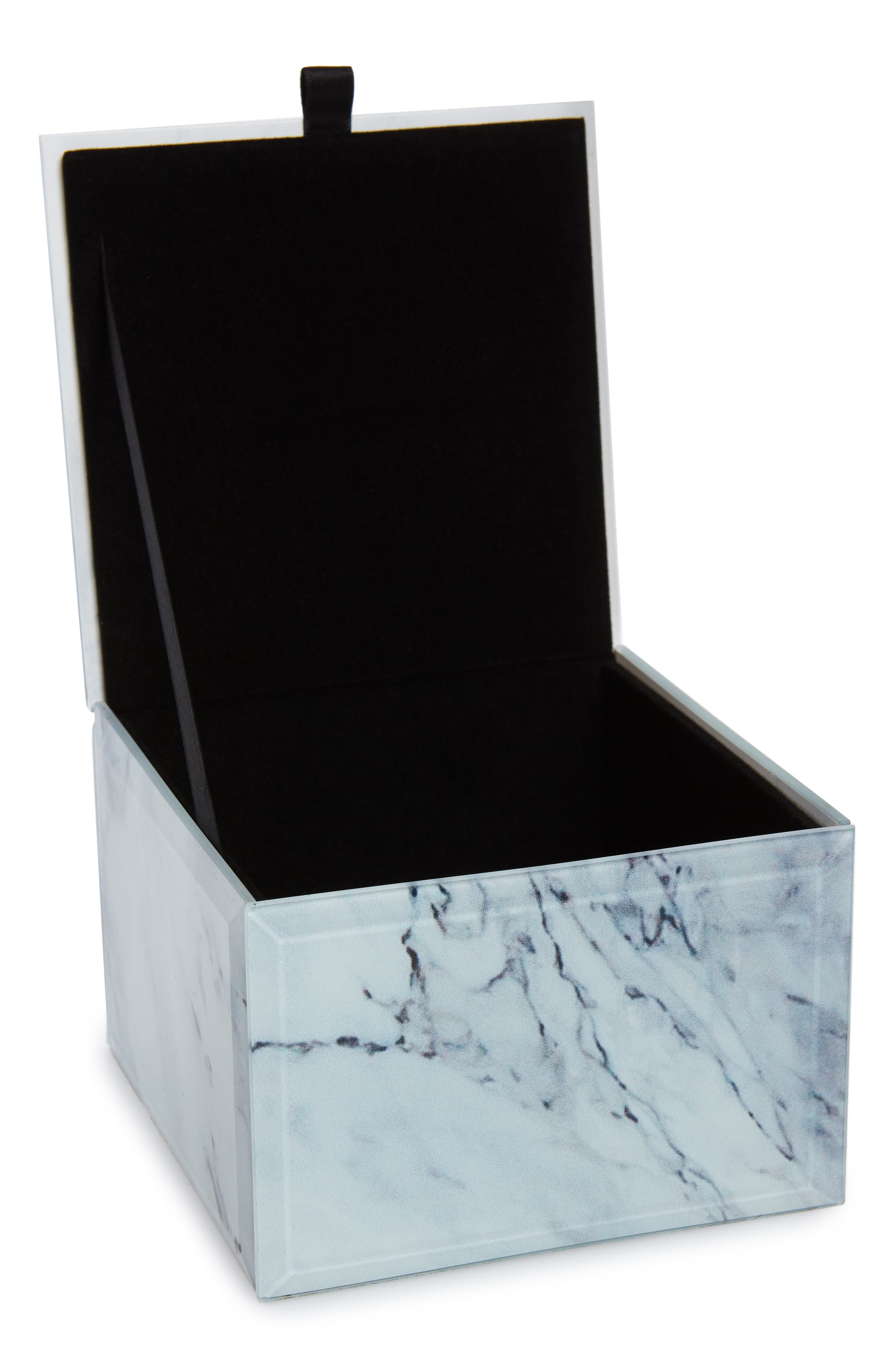 CAROLE, Medium Jewelry Box, Alternate thumbnail 2, color, MARBLE