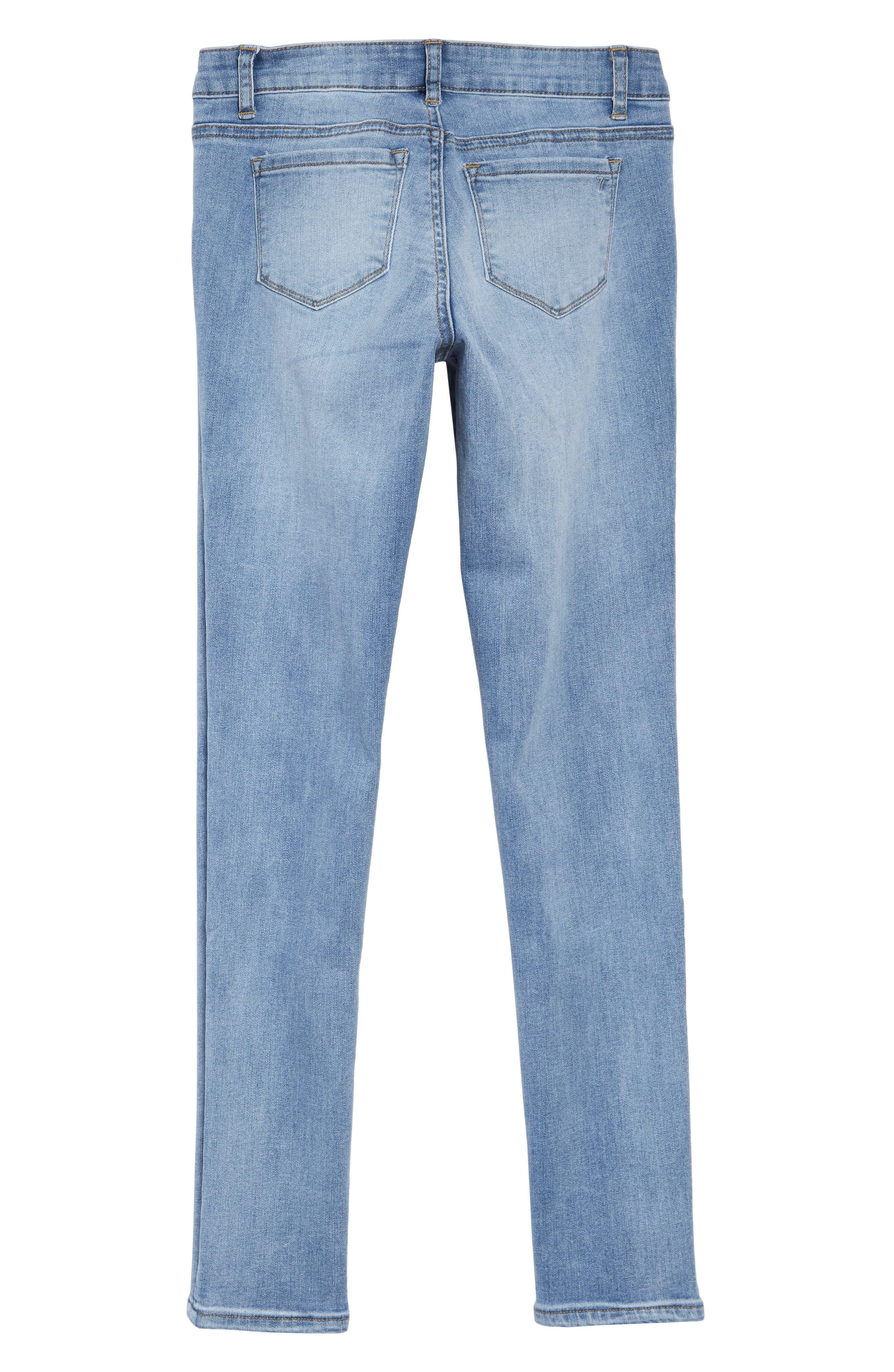 TRACTR, Diane Skinny Jeans, Alternate thumbnail 2, color, LIGHT INDIGO