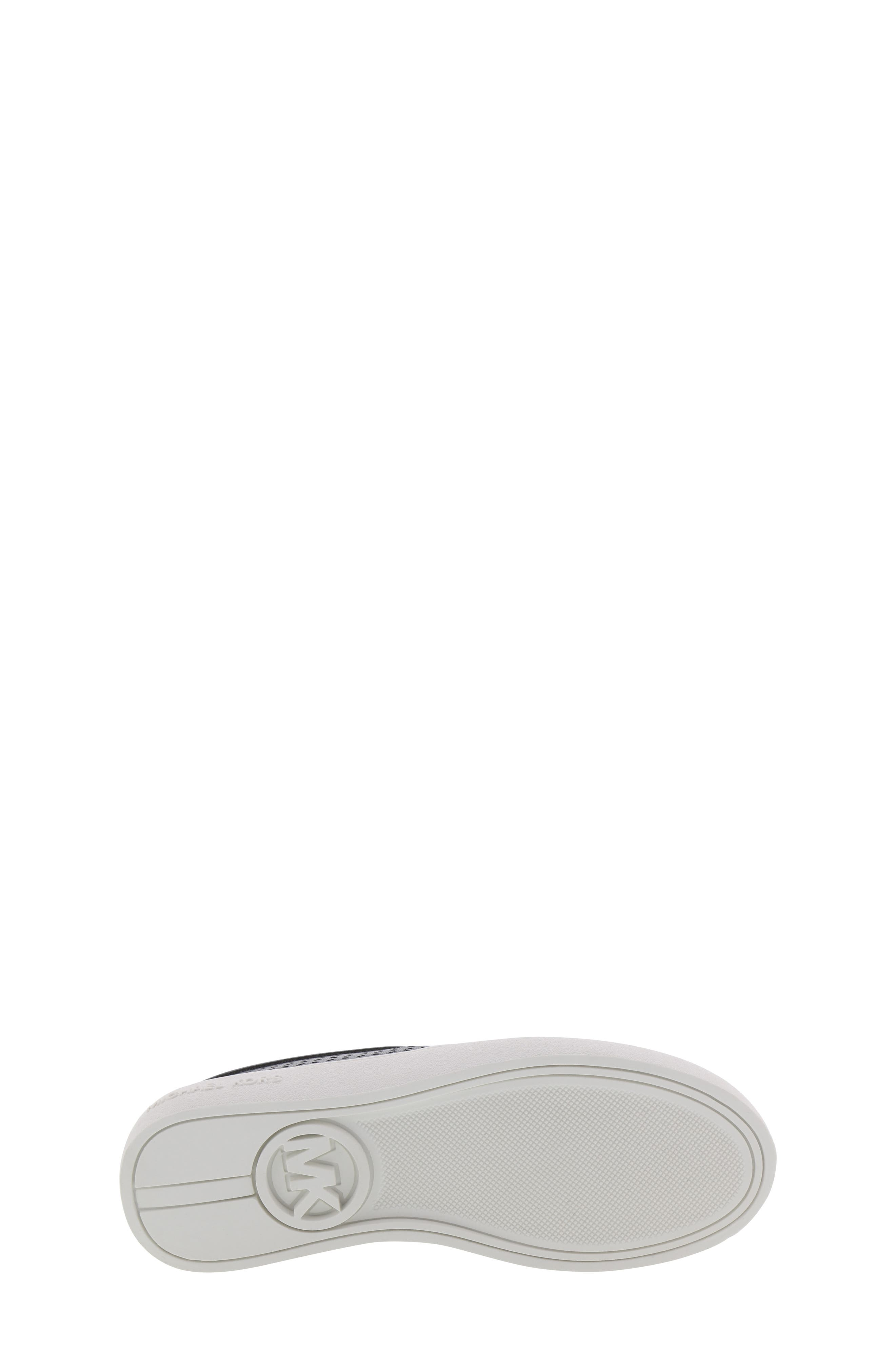 MICHAEL MICHAEL KORS, Jem Olivia Perforated Slip-On Sneaker, Alternate thumbnail 6, color, BLACK