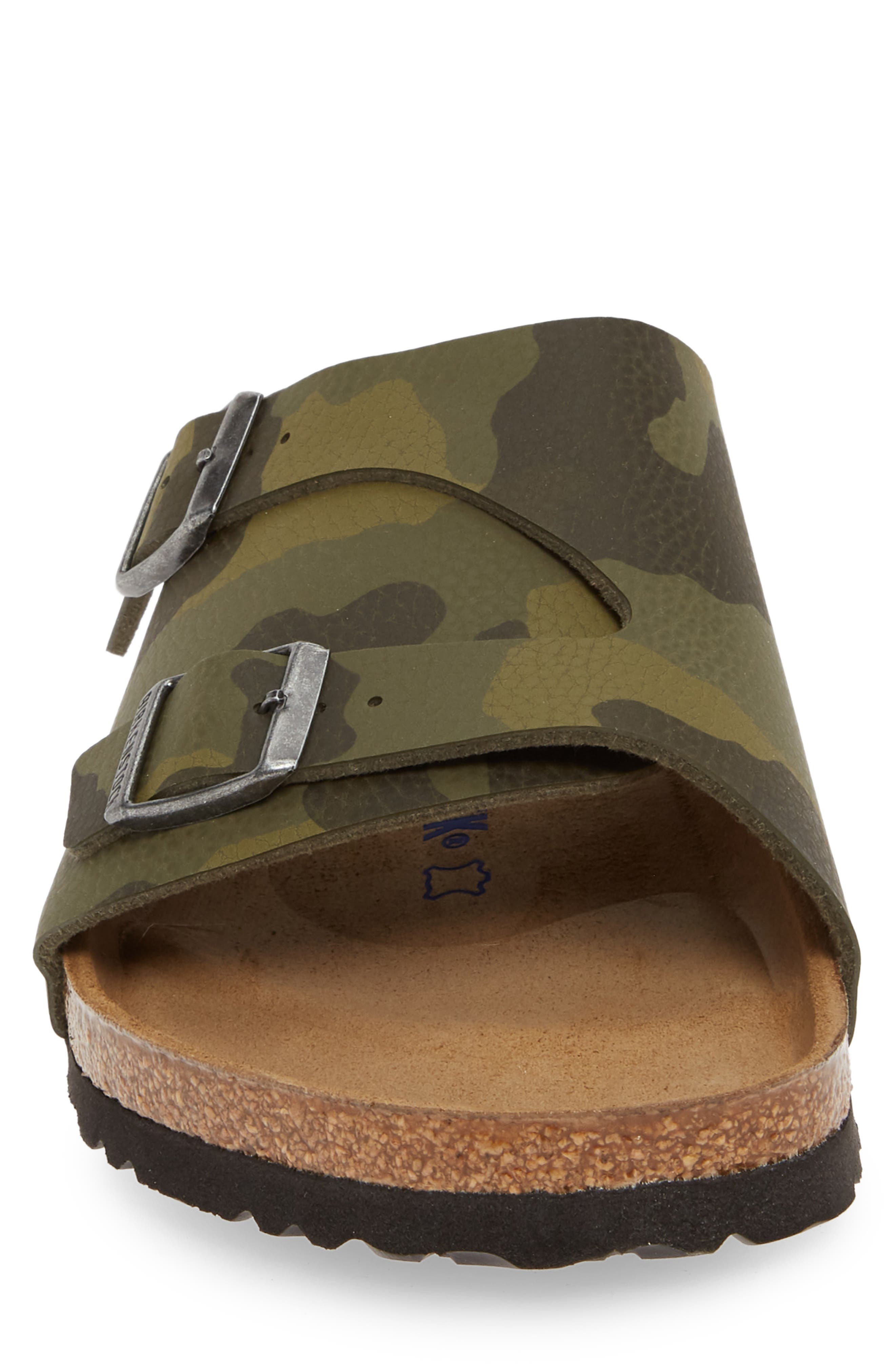 BIRKENSTOCK, Zurich Slide Sandal, Alternate thumbnail 4, color, DESERT CAMO GREEN