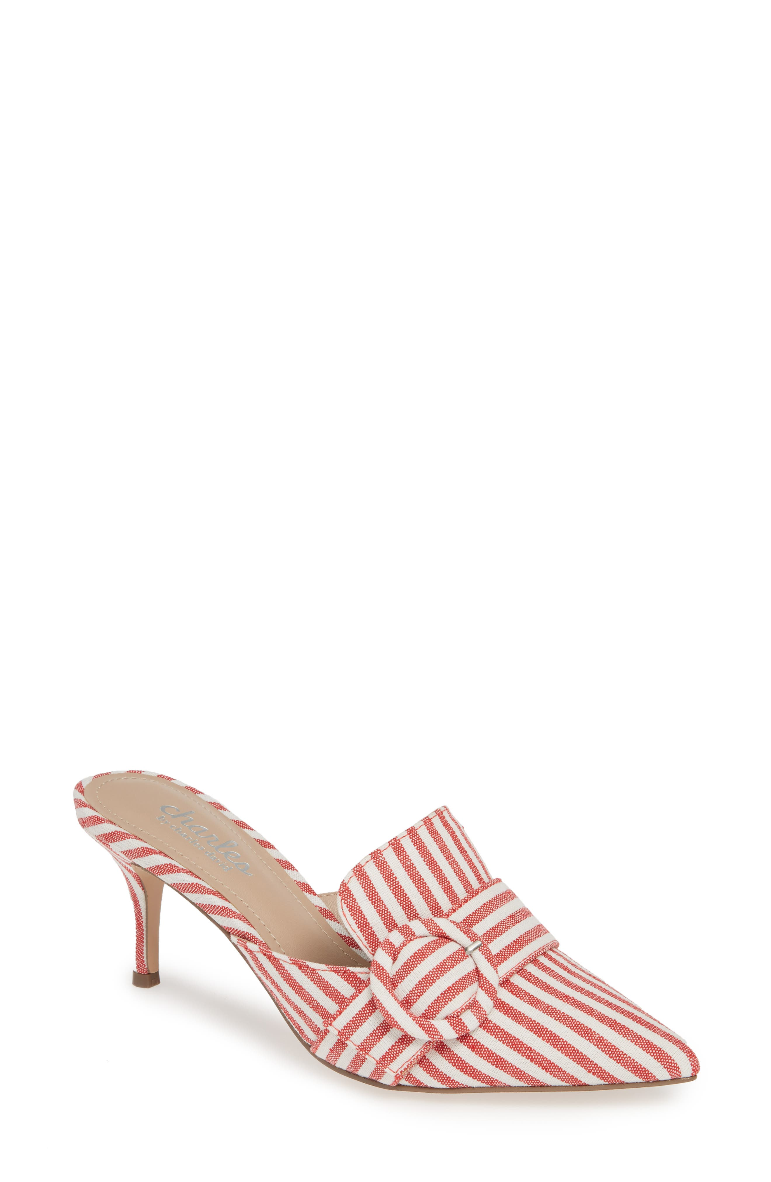 CHARLES BY CHARLES DAVID, Acapulco Mule, Main thumbnail 1, color, CANDY RED FABRIC