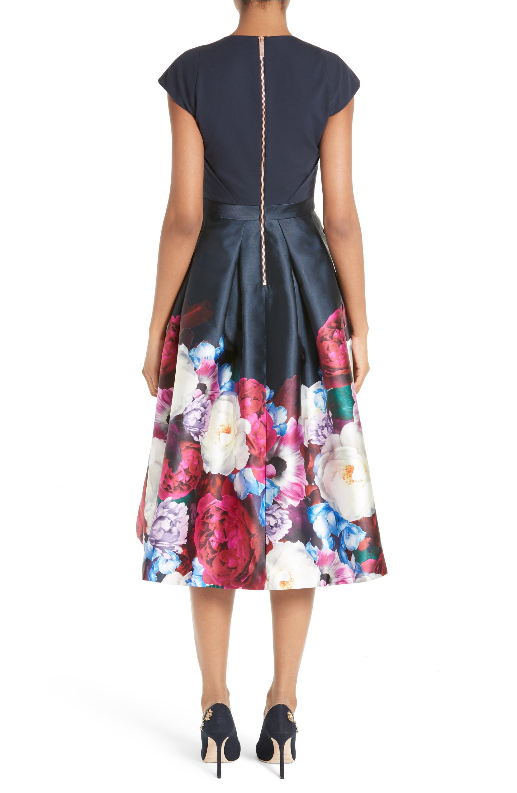 82ad4b194 Ted Baker London Blushing Bouquet Fit & Flare Dress | Nordstrom