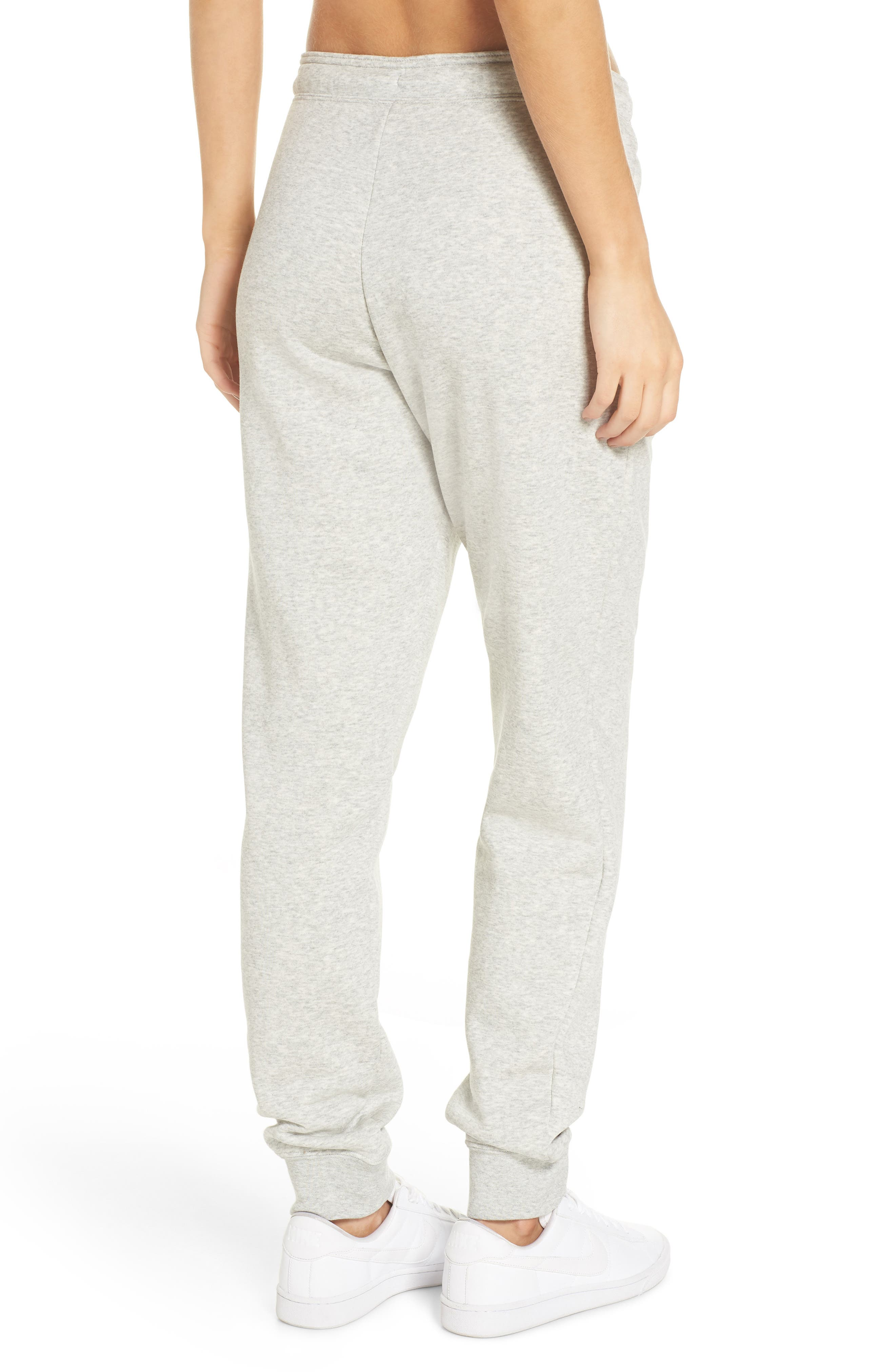 NIKE, Sportswear Rally Jogger Pants, Alternate thumbnail 2, color, GREY HEATHER/ PALE GREY/ WHITE