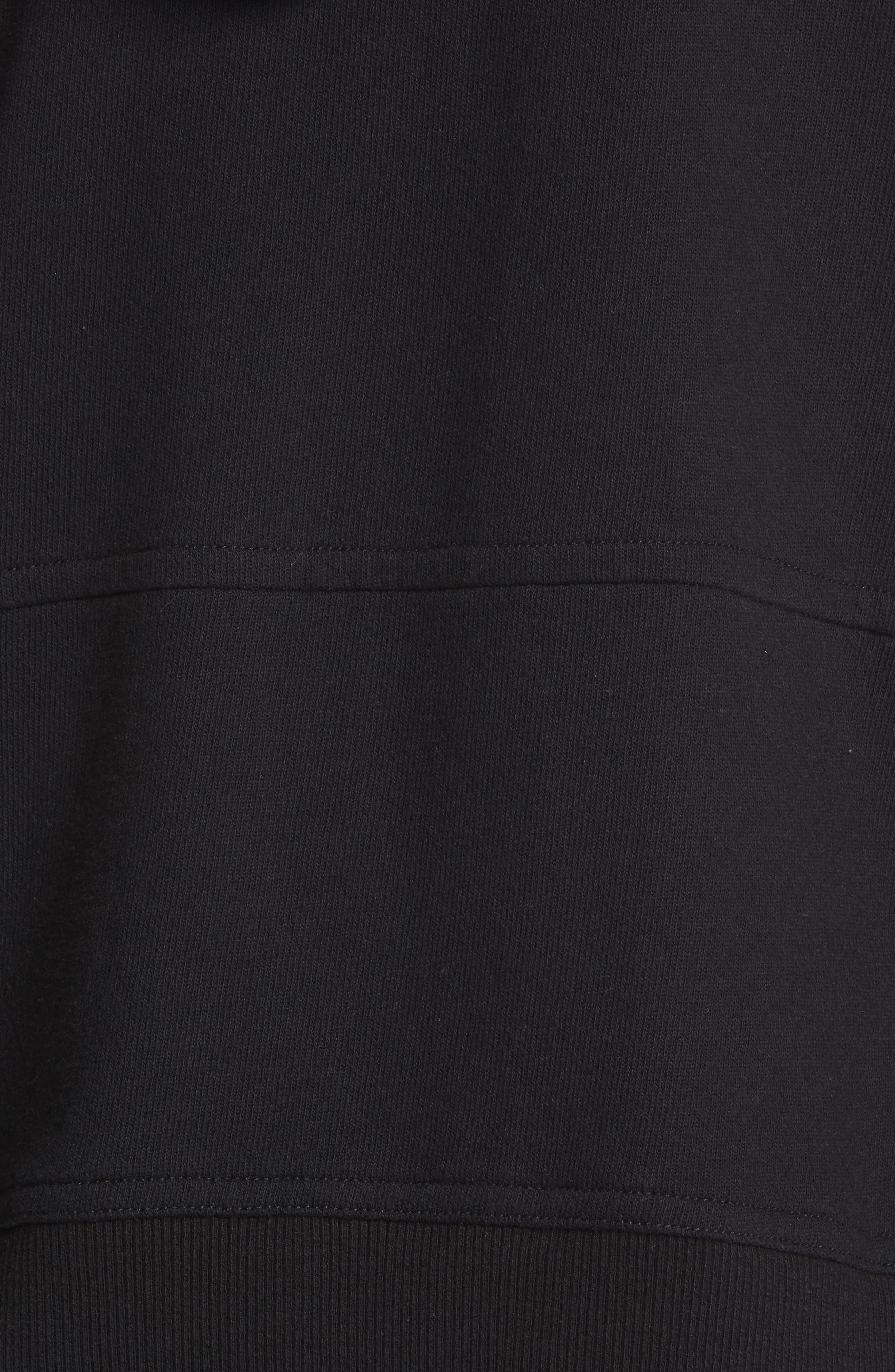 JAMES PERSE, Side Zip Hoodie, Alternate thumbnail 5, color, BLACK