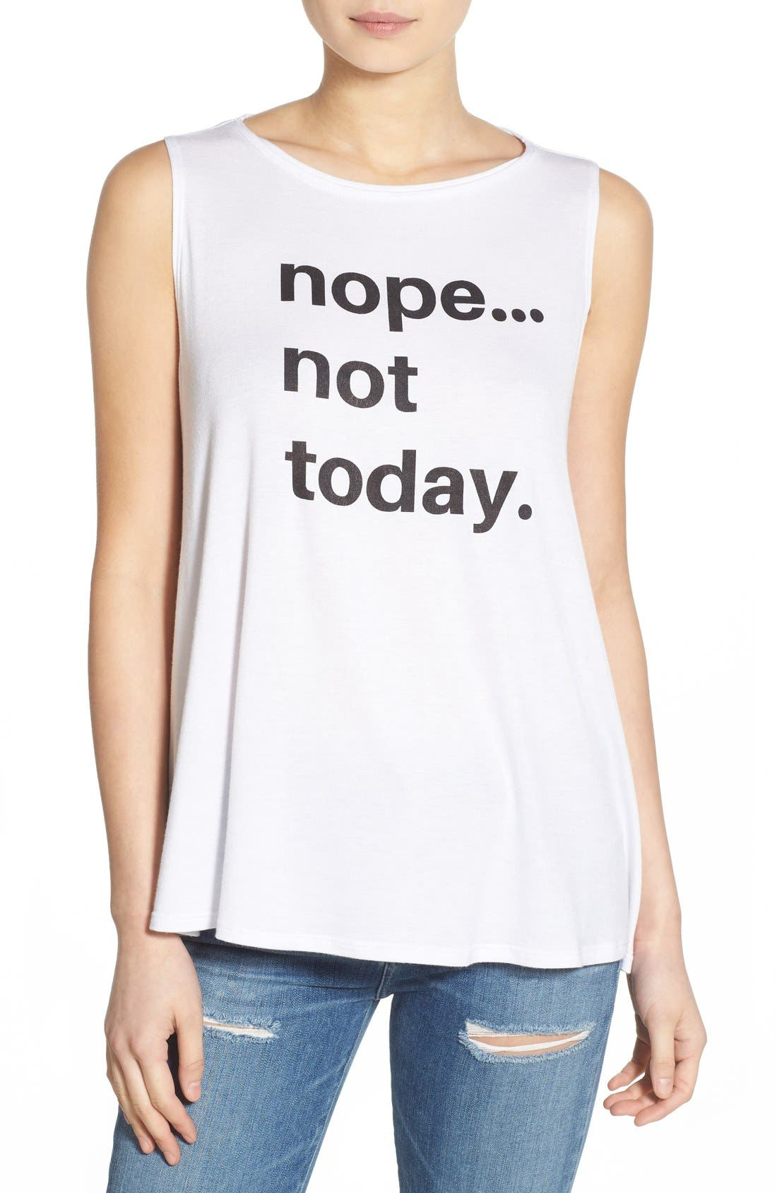 TEN SIXTY SHERMAN 'Not Today' Graphic Tank, Main, color, 100
