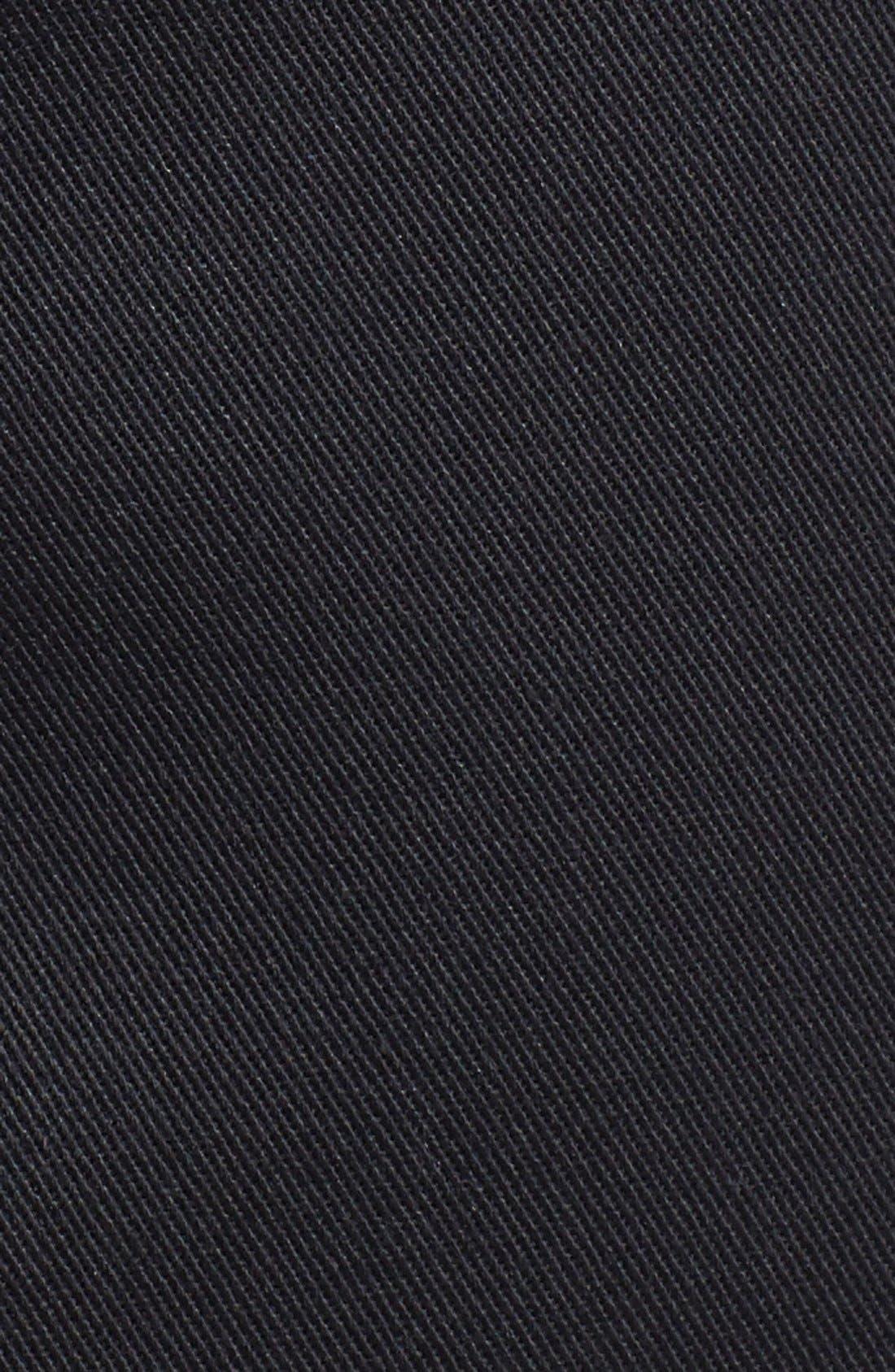 NORDSTROM MEN'S SHOP, Smartcare<sup>™</sup> Flat Front Shorts, Alternate thumbnail 8, color, BLACK