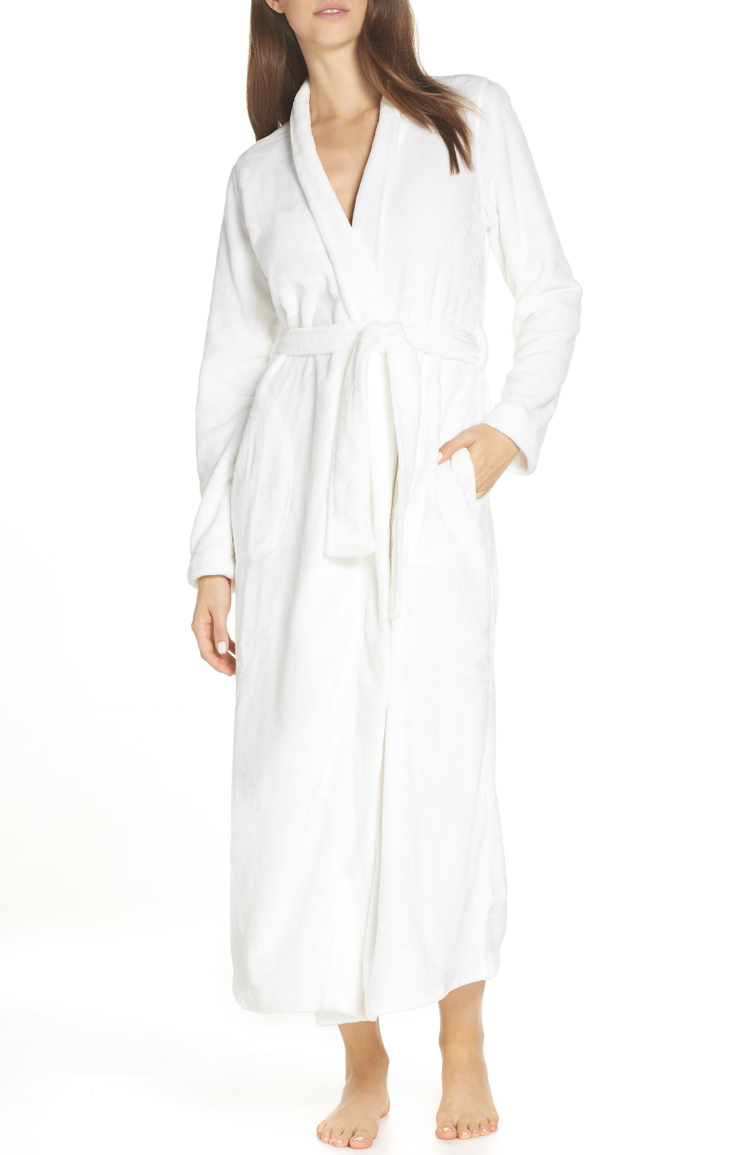 UGG<SUP>®</SUP>, Marlow Double-Face Fleece Robe, Main thumbnail 1, color, SEAGULL