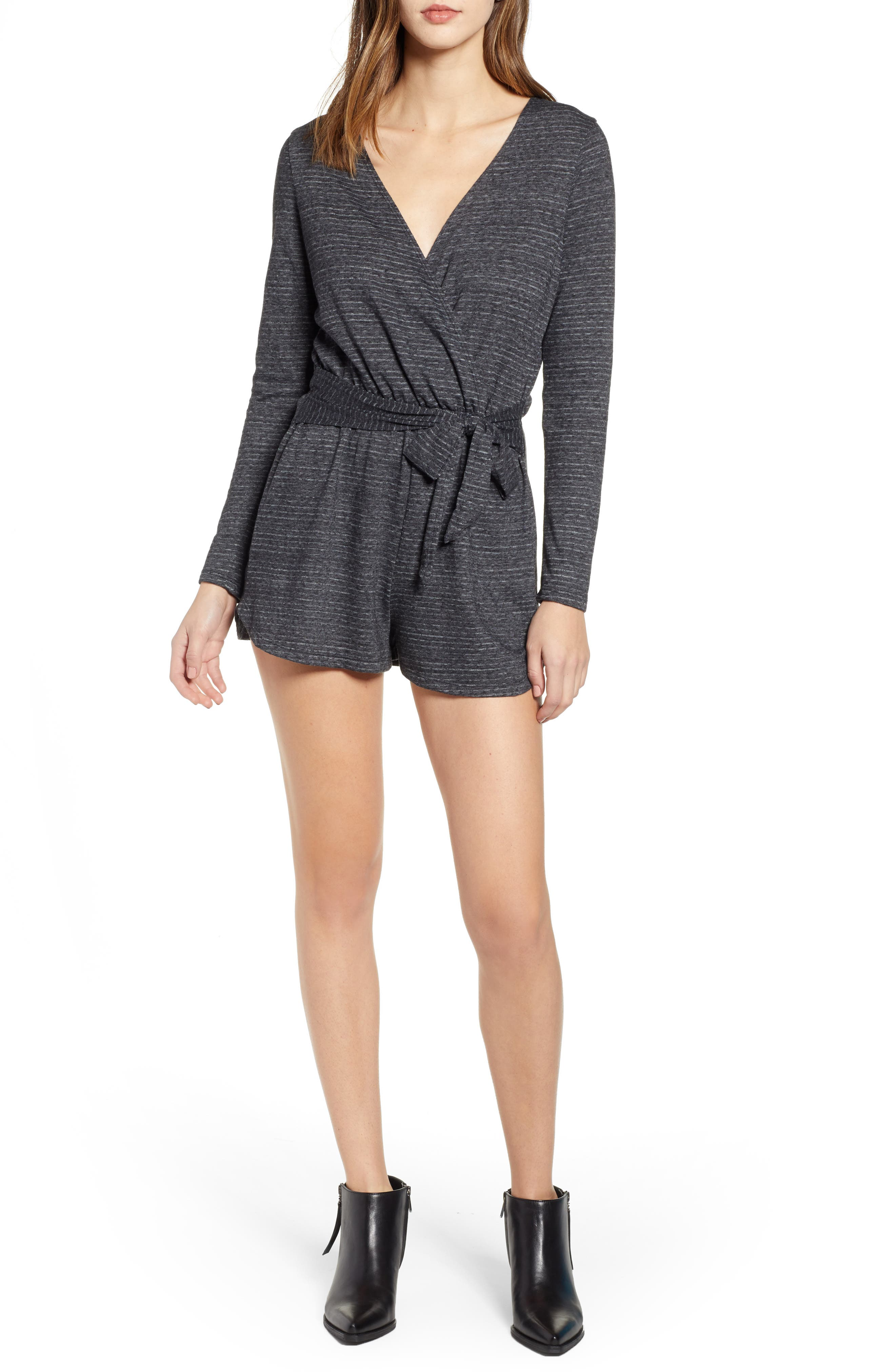 BILLABONG Perfect Time Stripe Knit Romper, Main, color, 020